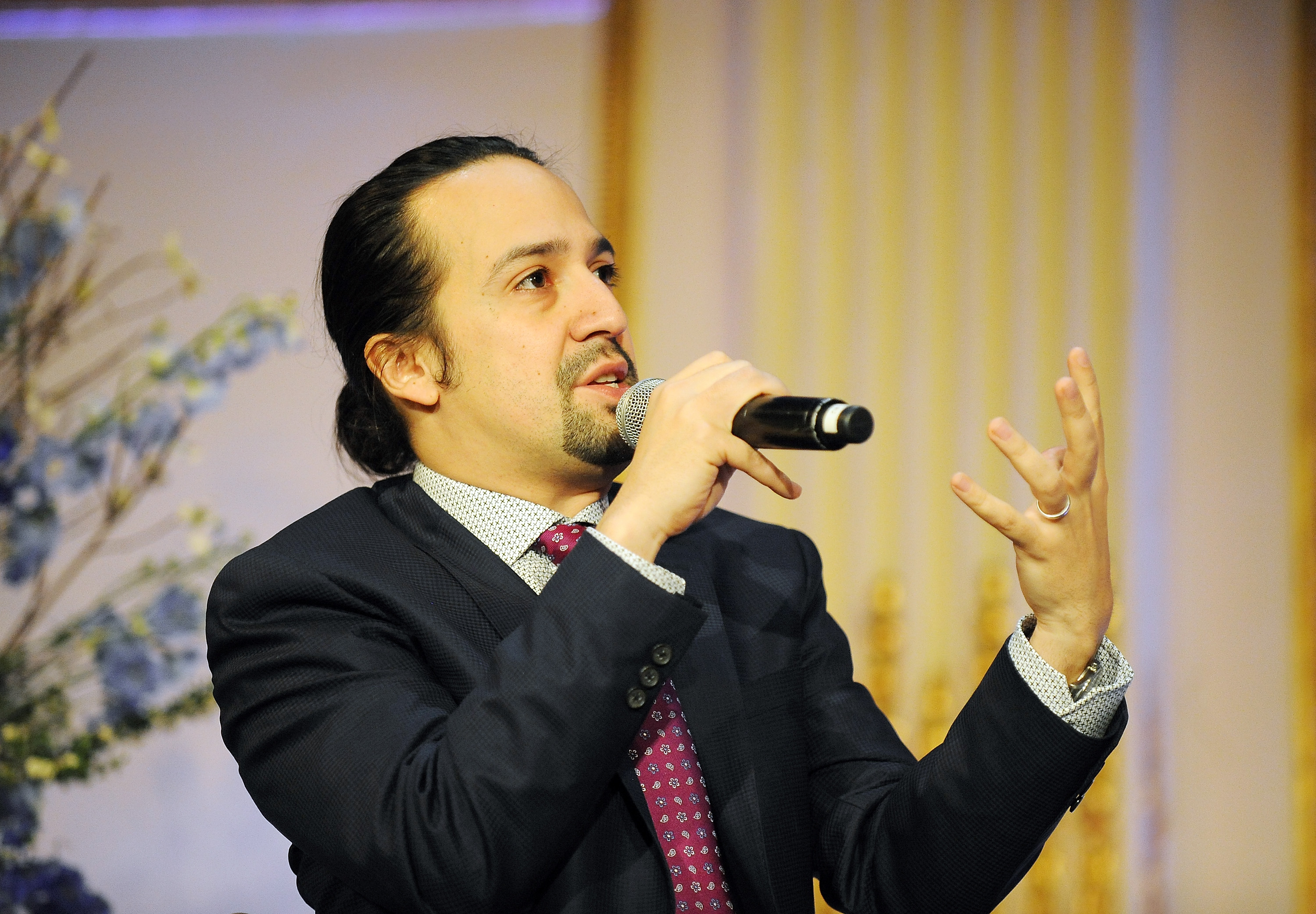 Creator of the hit Broadway play 'Hamiliton', Lin-Manuel Miranda attends the 2016 John Jay College Educating For Justice Gala at on May 23 in New York City.