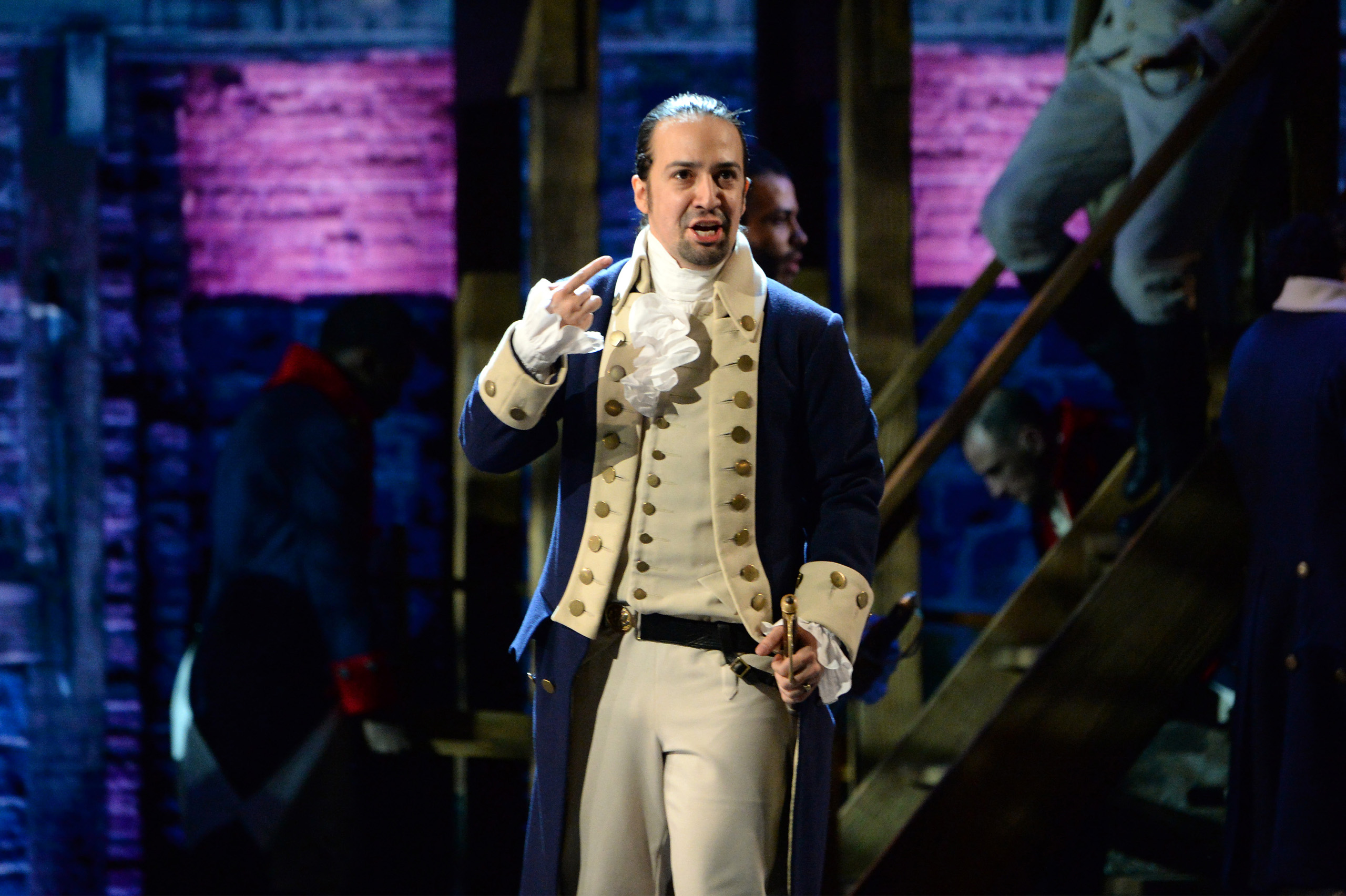 Lin-Manuel Miranda of 'Hamilton' performs onstage during the 70th Annual Tony Awards at The Beacon Theatre in New York City on June 12, 2016.