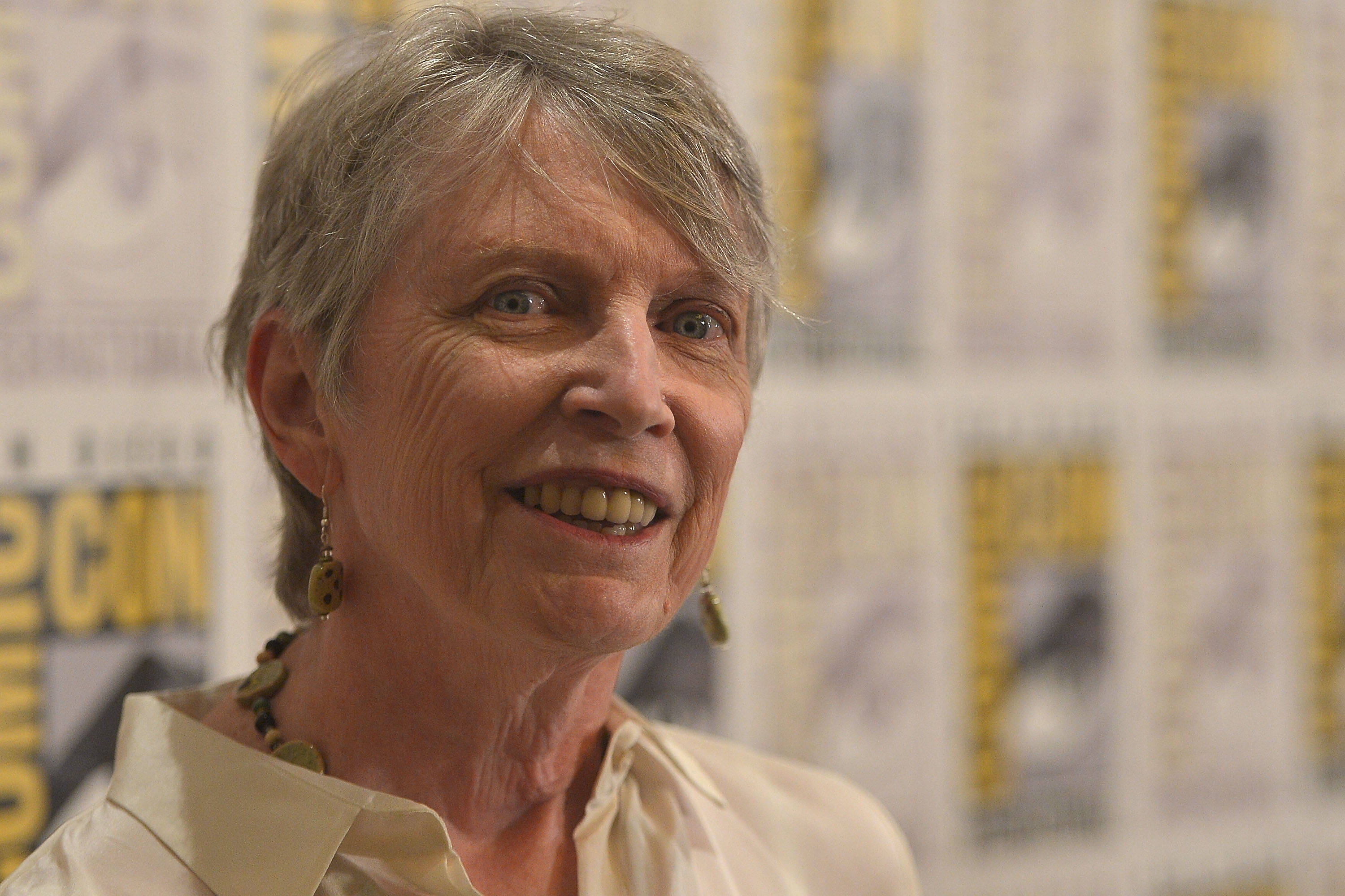 Lois Lowry attends The Weinstein Company Presents  THE GIVER  At Comic-Con 2014 in San Diego on July 24, 2014.