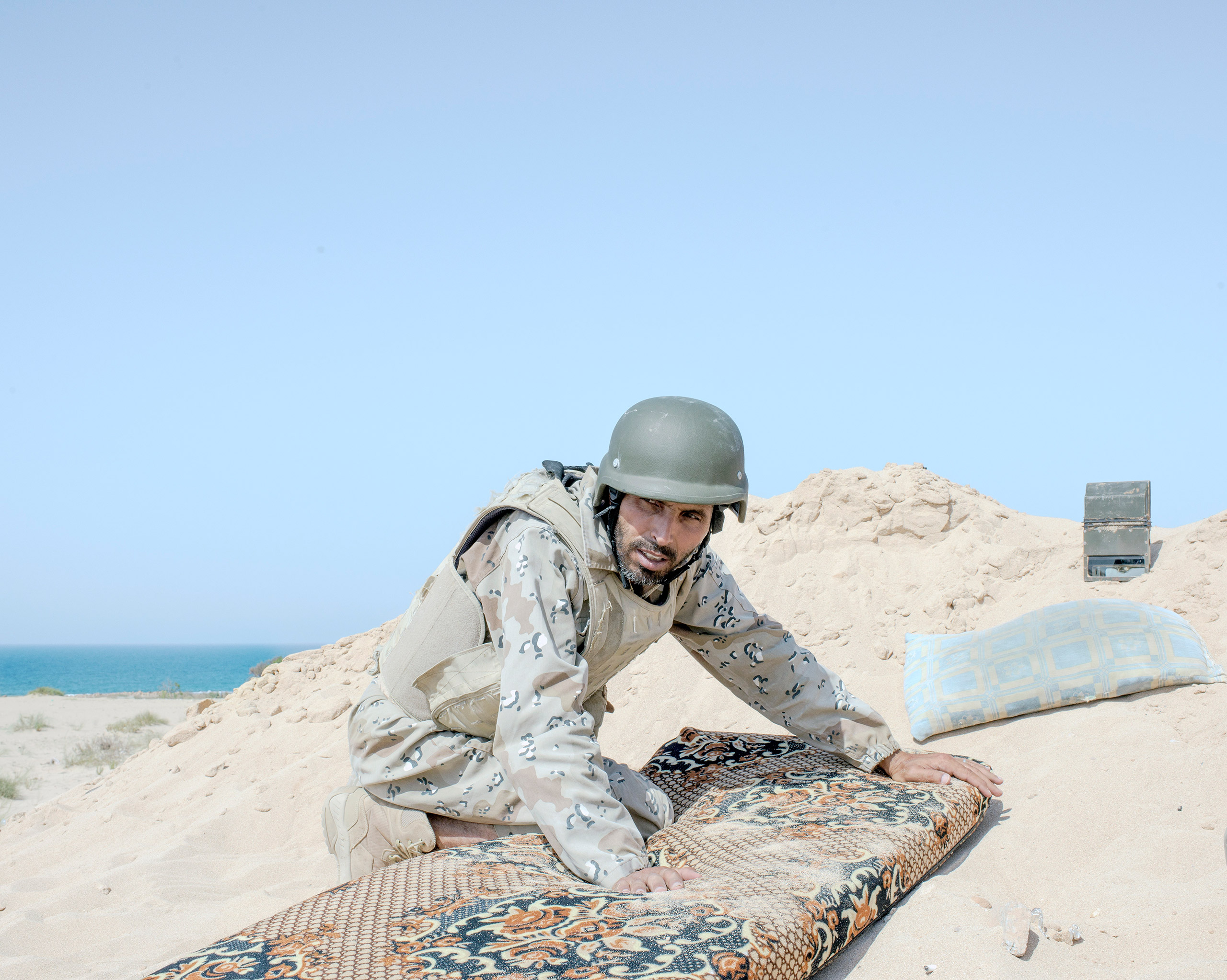A Libyan spotter identifies ISIS positions on the westernmost frontline against ISIS on the Sirt seafront, July 2016.From  Inside ISIS' Last Bastion in Libya