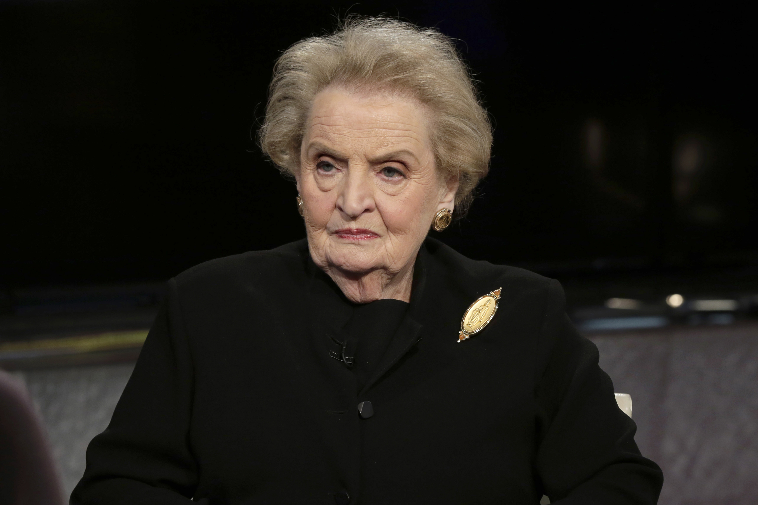 Former U.S. Secretary of State Madeleine Albright is interviewed on FOX's  Mornings with Maria  in New York on Mar. 2, 2016.