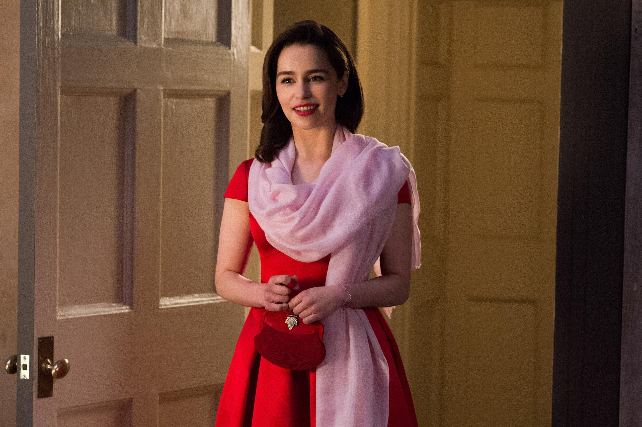 Emilia Clarke as Lou Clark in Me Before You.