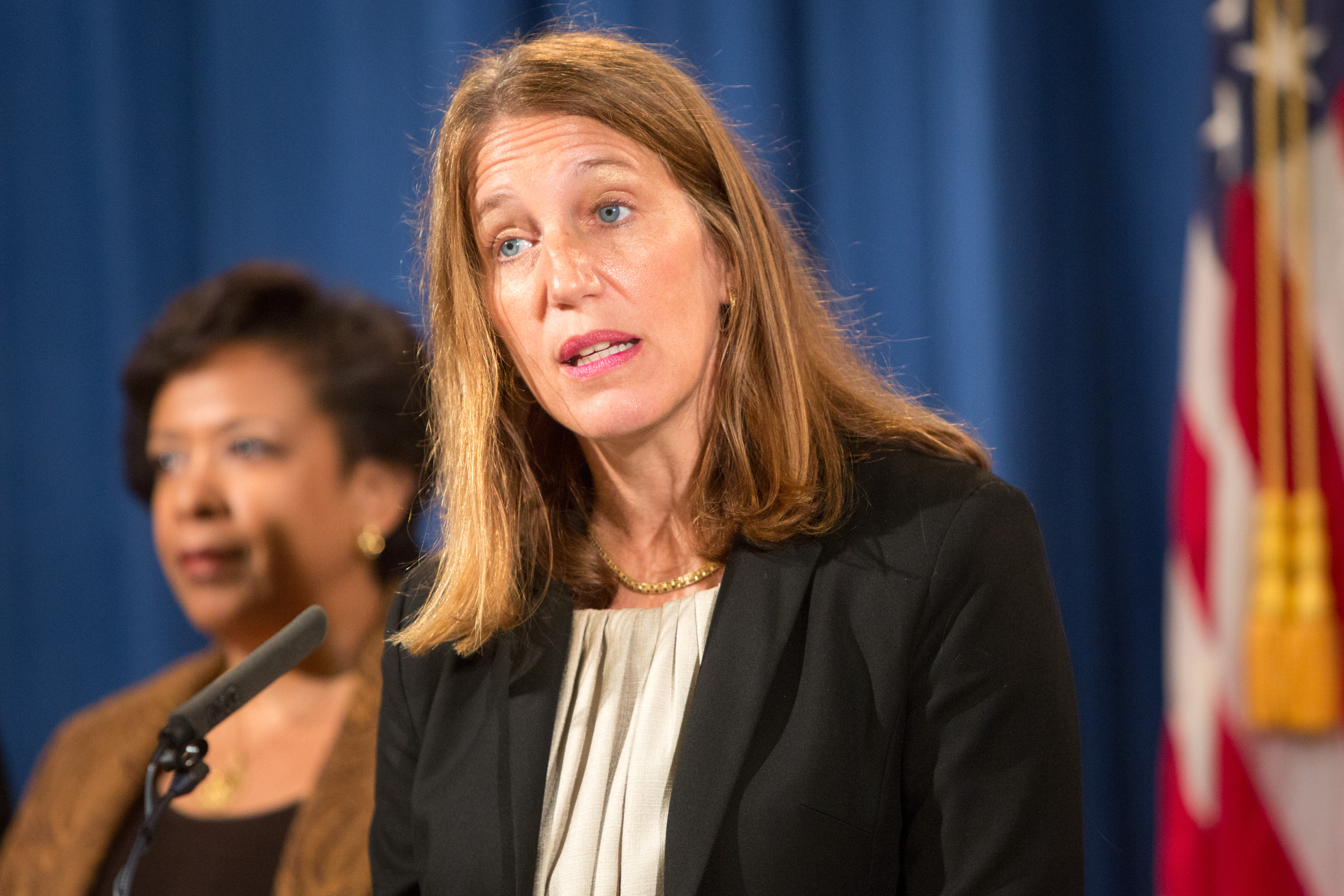 Department of Health and Human Services Secretary Sylvia Mathews Burwell speaks at a press conference on June 22, 2016 in Washington, DC.