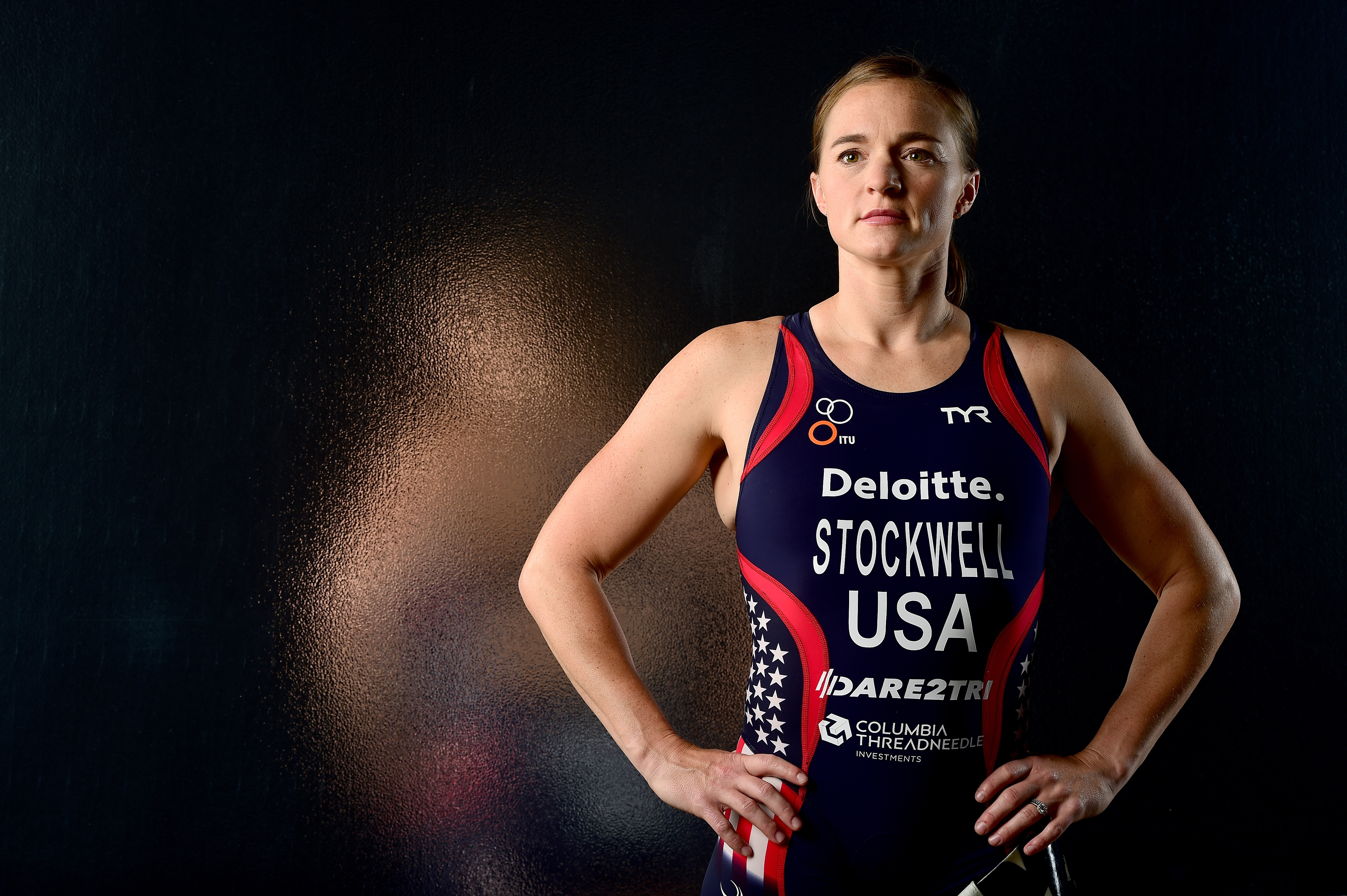 Paratriathlete Melissa Stockwell poses for a portrait at the USOC Rio Olympics Shoot at Quixote Studios on November 19, 2015 in Los Angeles, California.