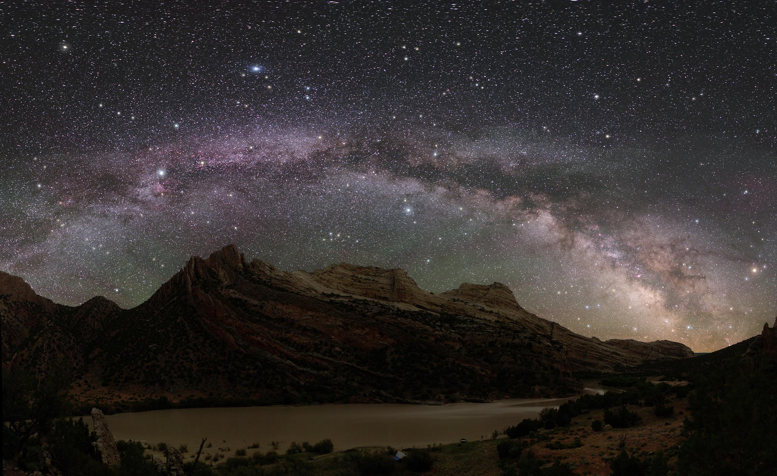 The Milky Way over Dinosaur National Park.