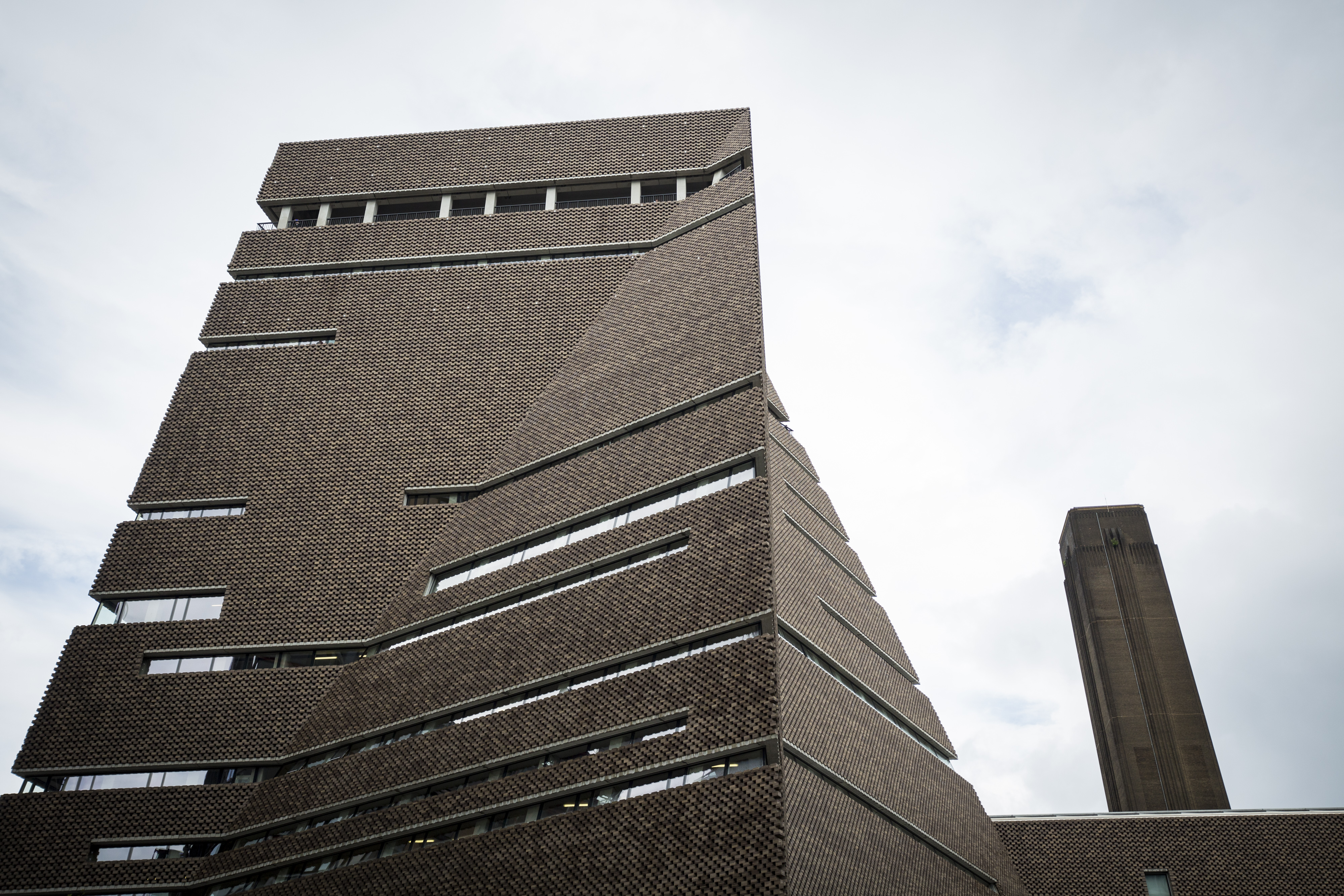 The Tate Modern's new Switch House building by architects Herzog & de Meuron on June 14, 2016 in London.