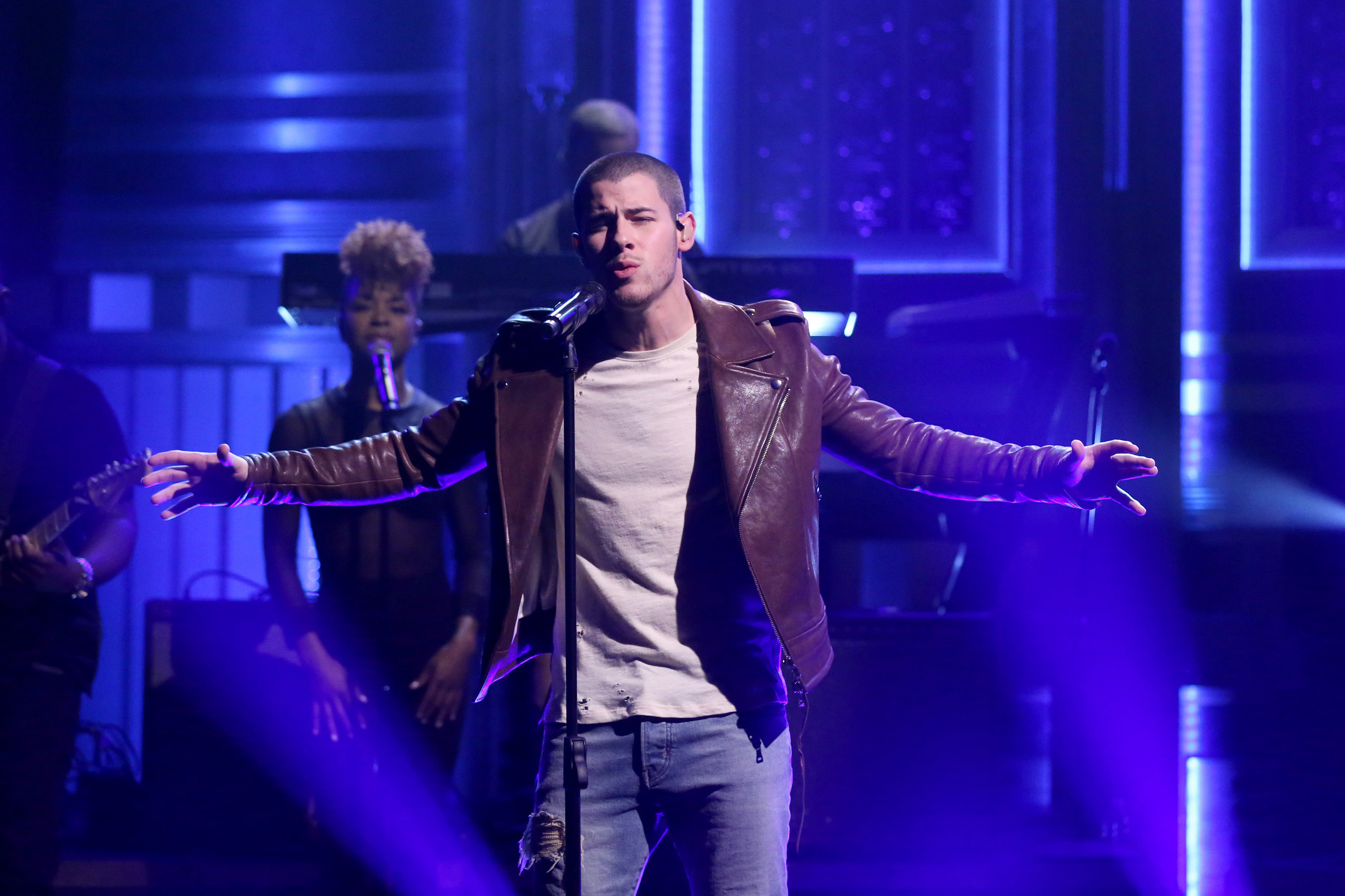 Musical guest Nick Jonas performs onThe Tonight Show Starring Jimmy Fallon on June 13, 2016.