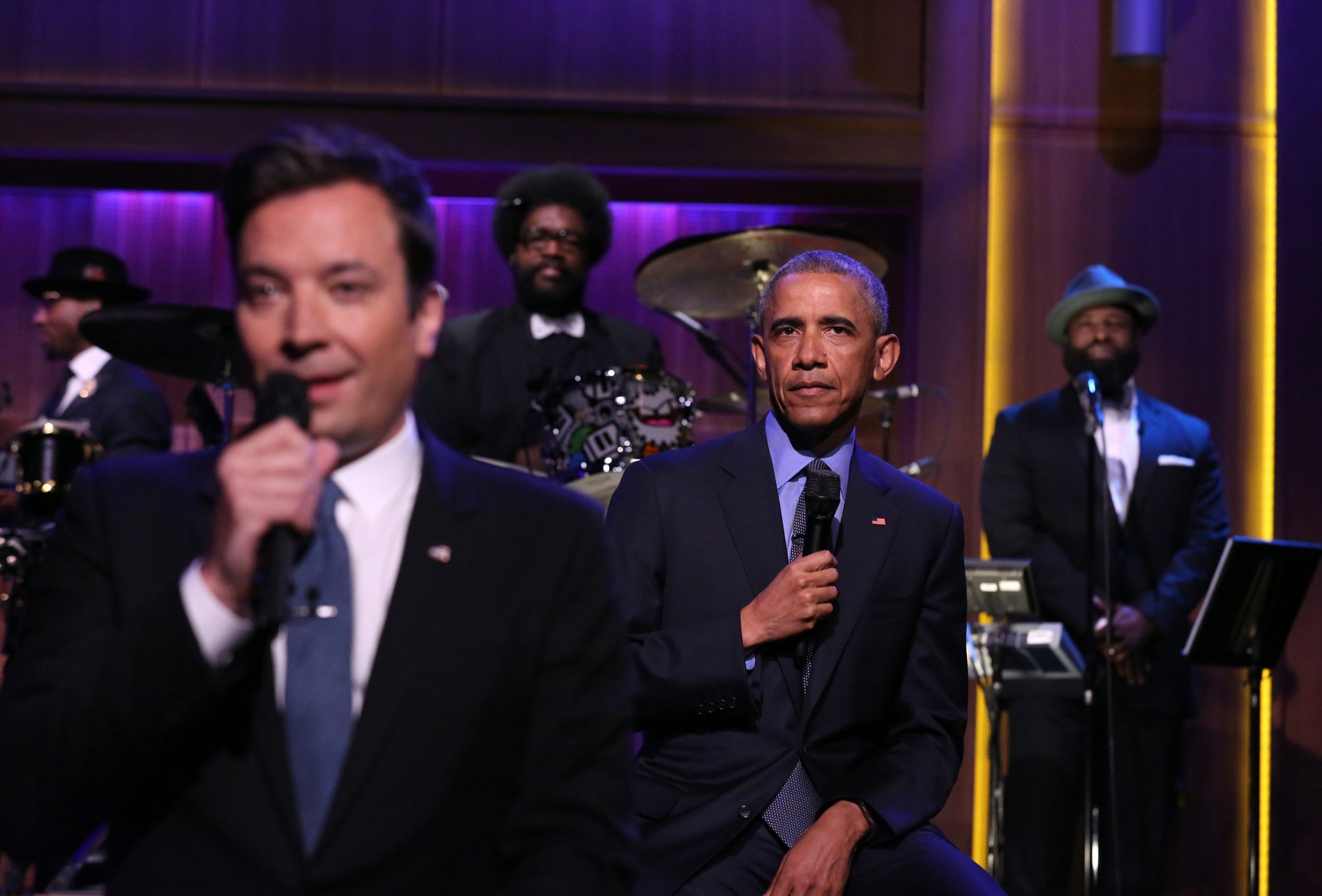 Jimmy Fallon and President Barack Obama Slow Jam The News on June 9, 2016.