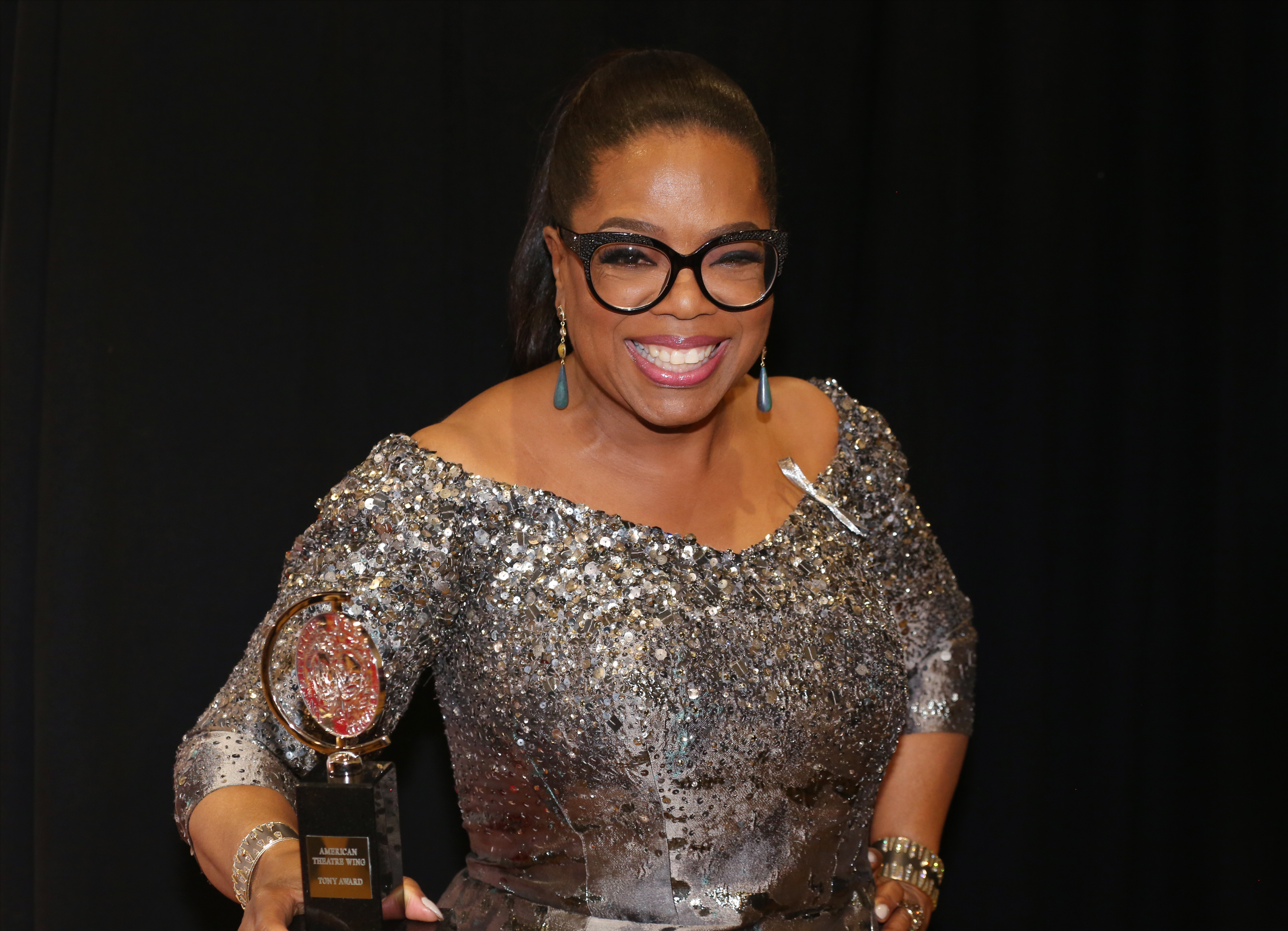 Oprah Winfrey in the press room for the 70th Annual Tony Awards at the Beacon Theater on June 12, 2016 in New York City.