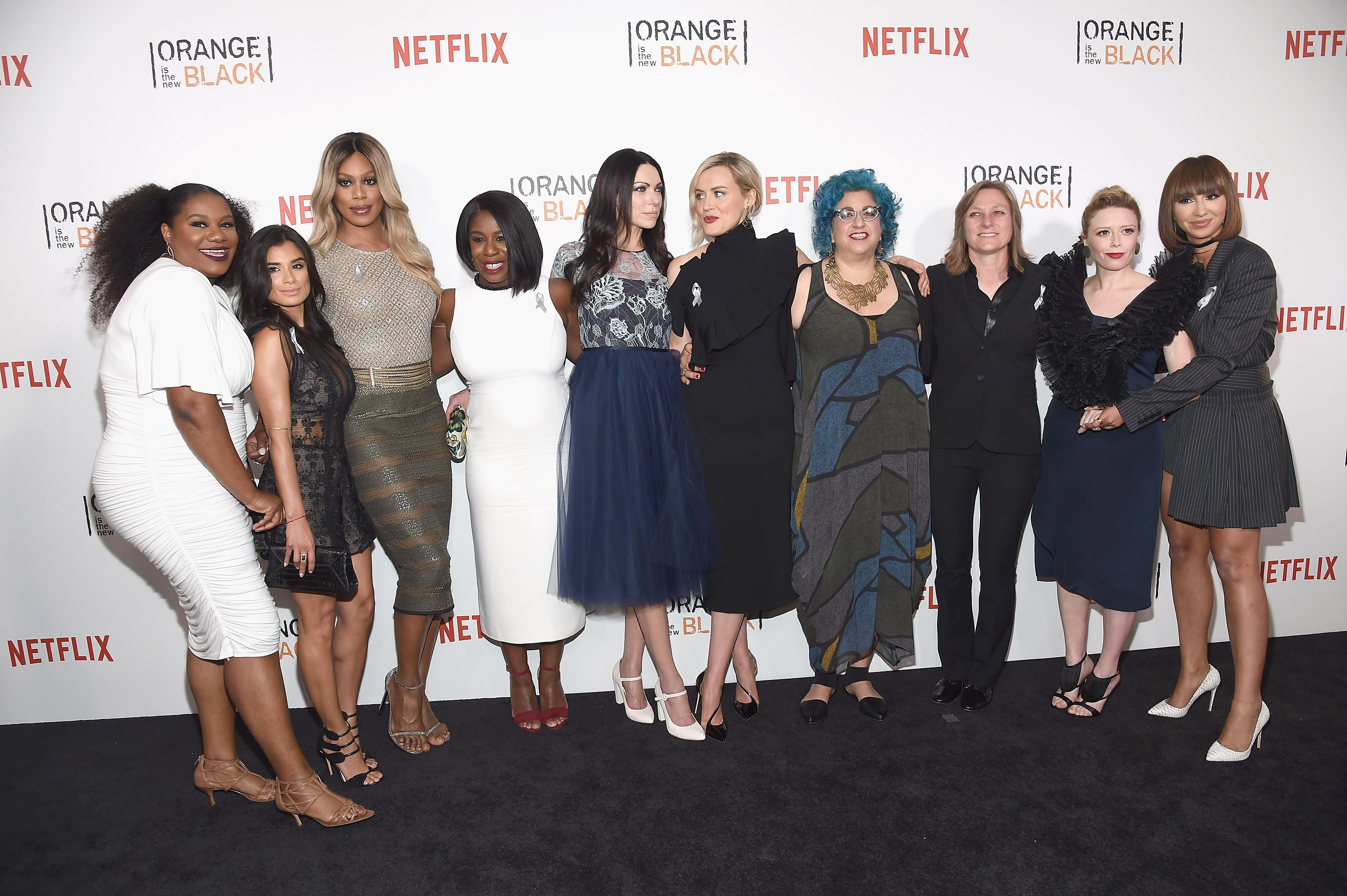 The cast of  Orange Is The New Black   attends the Netflix series' New York City premiere  on June 16, 2016.