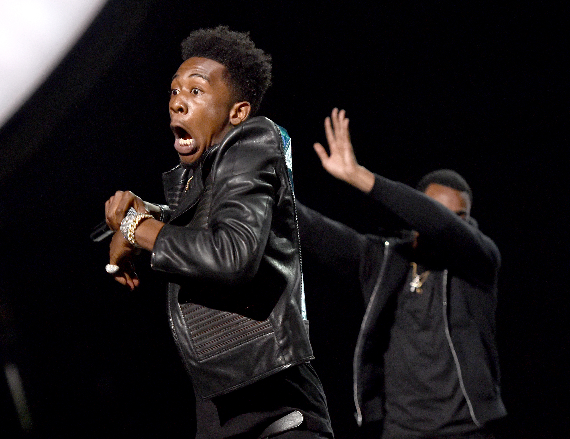 Desiigner performs onstage during the 2016 BET Awards at the Microsoft Theater on June 26, 2016 in Los Angeles, California.  (Photo by Paras Griffin/BET/Getty Images for BET)
