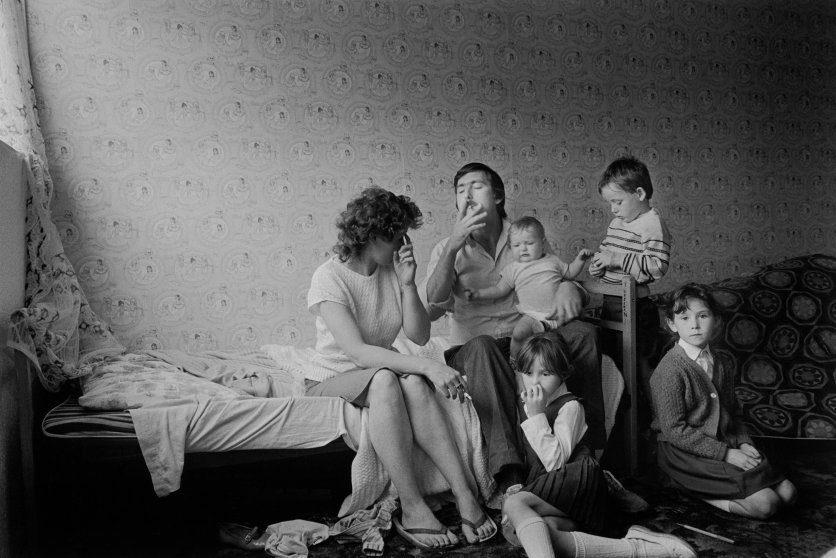 Peter Marlow Liverpool family, 1985.