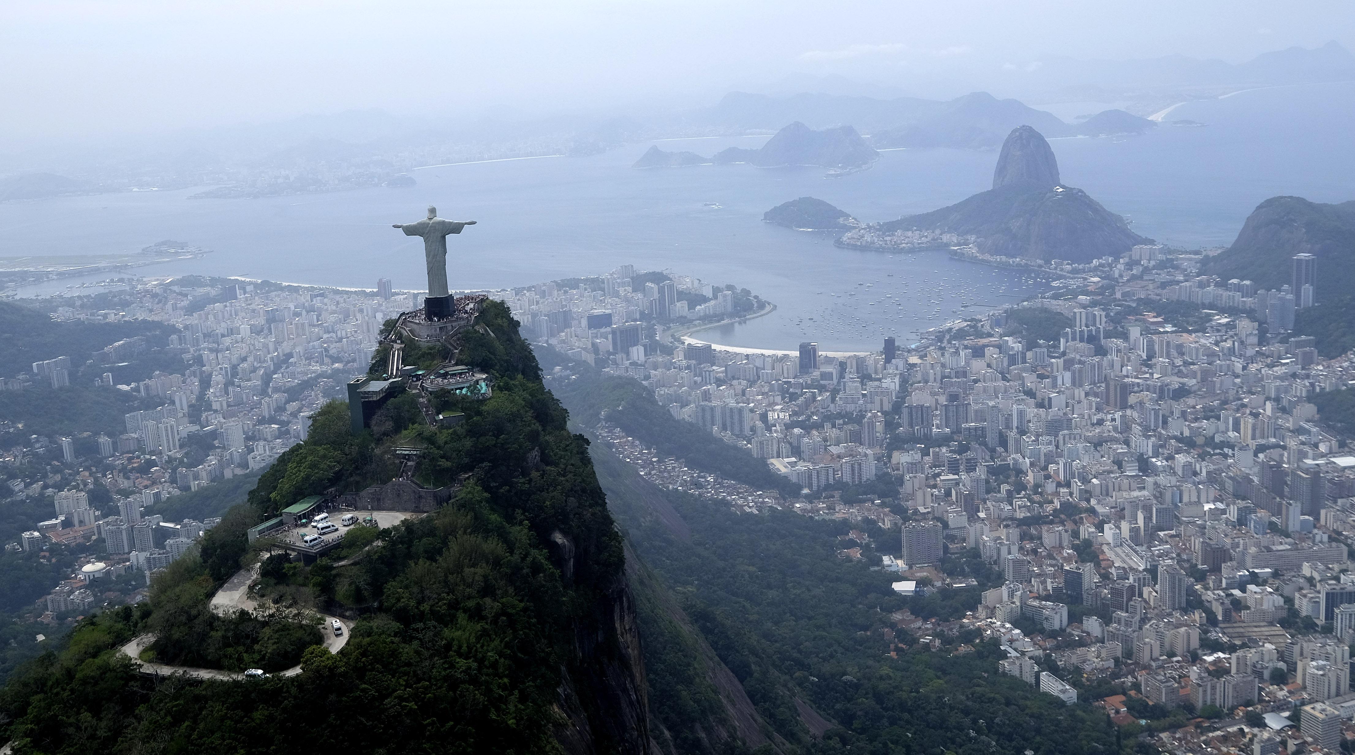 The Christ the Redeemer statue in Rio de Janeiro, Brazil, in Oct. 2015.