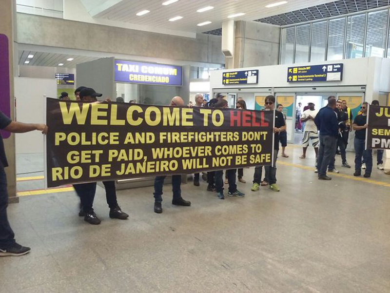 Scene at Rio airport.