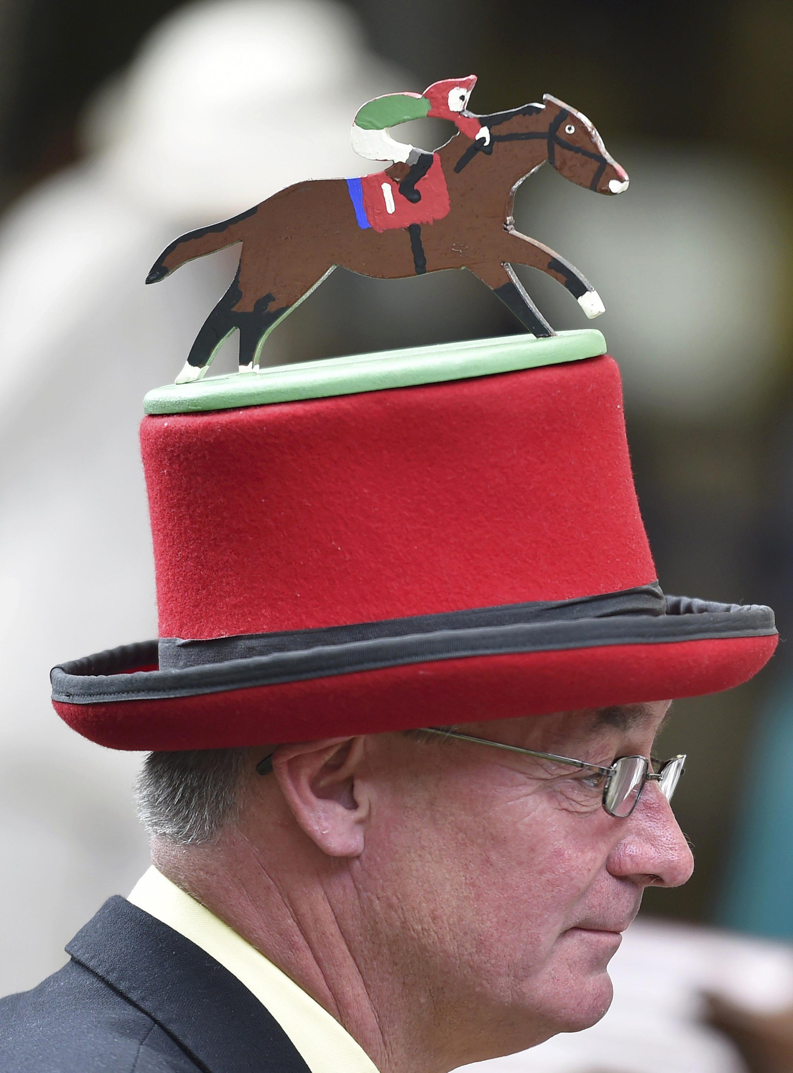 A racegoer's hat at the Royal Ascot horse race meeting in Ascot, U.K., on June 16, 2016.