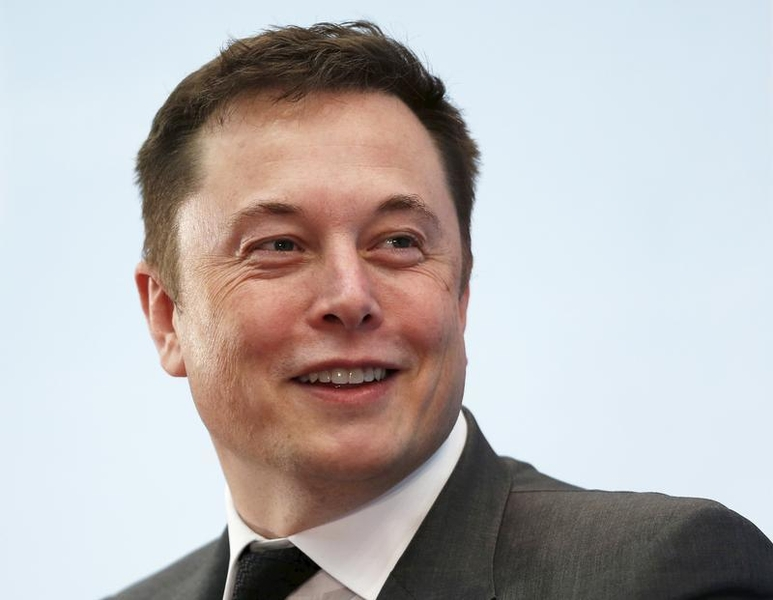 Tesla Chief Executive Elon Musk at a forum on startups in Hong Kong, China on January 26, 2016