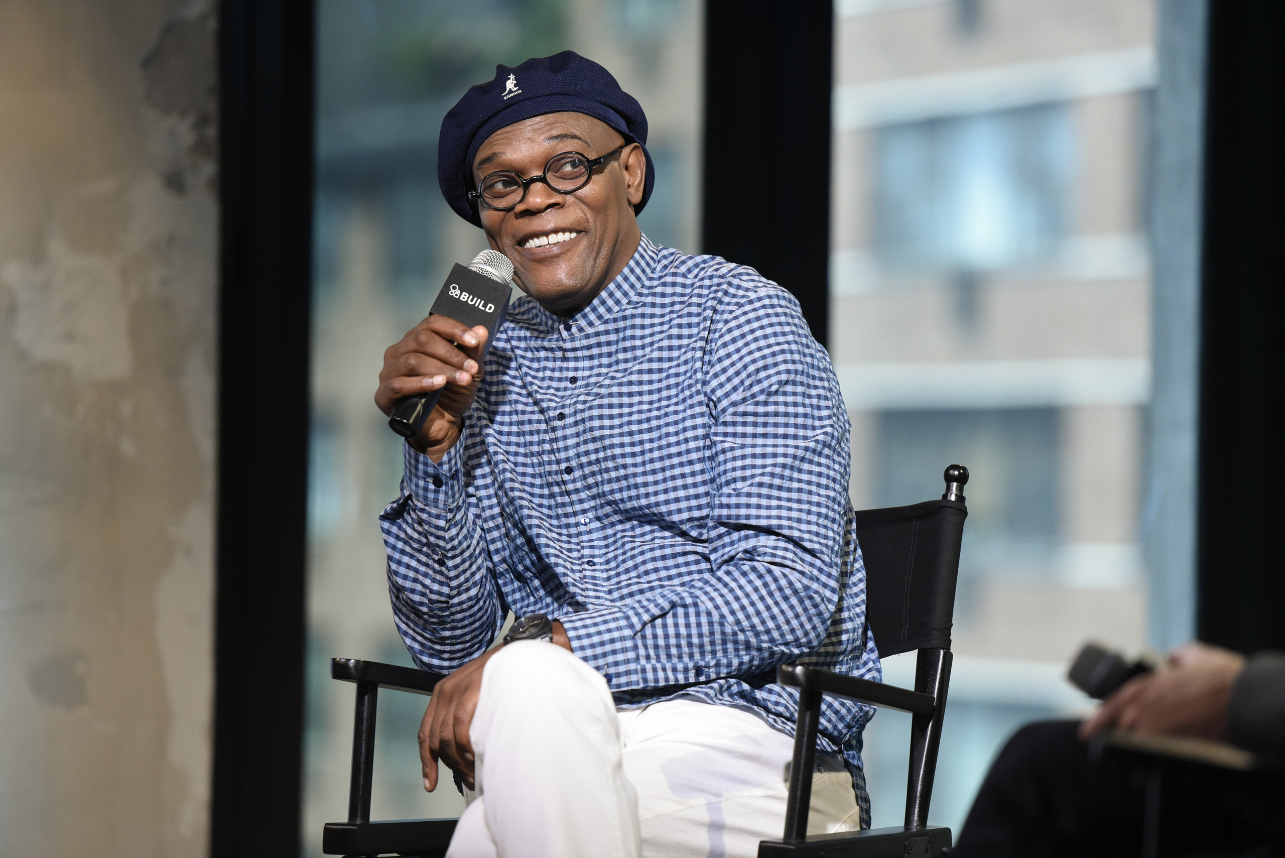 Samuel L. Jackson attends AOL Build Presents - Samuel L. Jackson from the new movie  The Legend Of Tarzan  at AOL Studios in New York City on June 29, 2016.