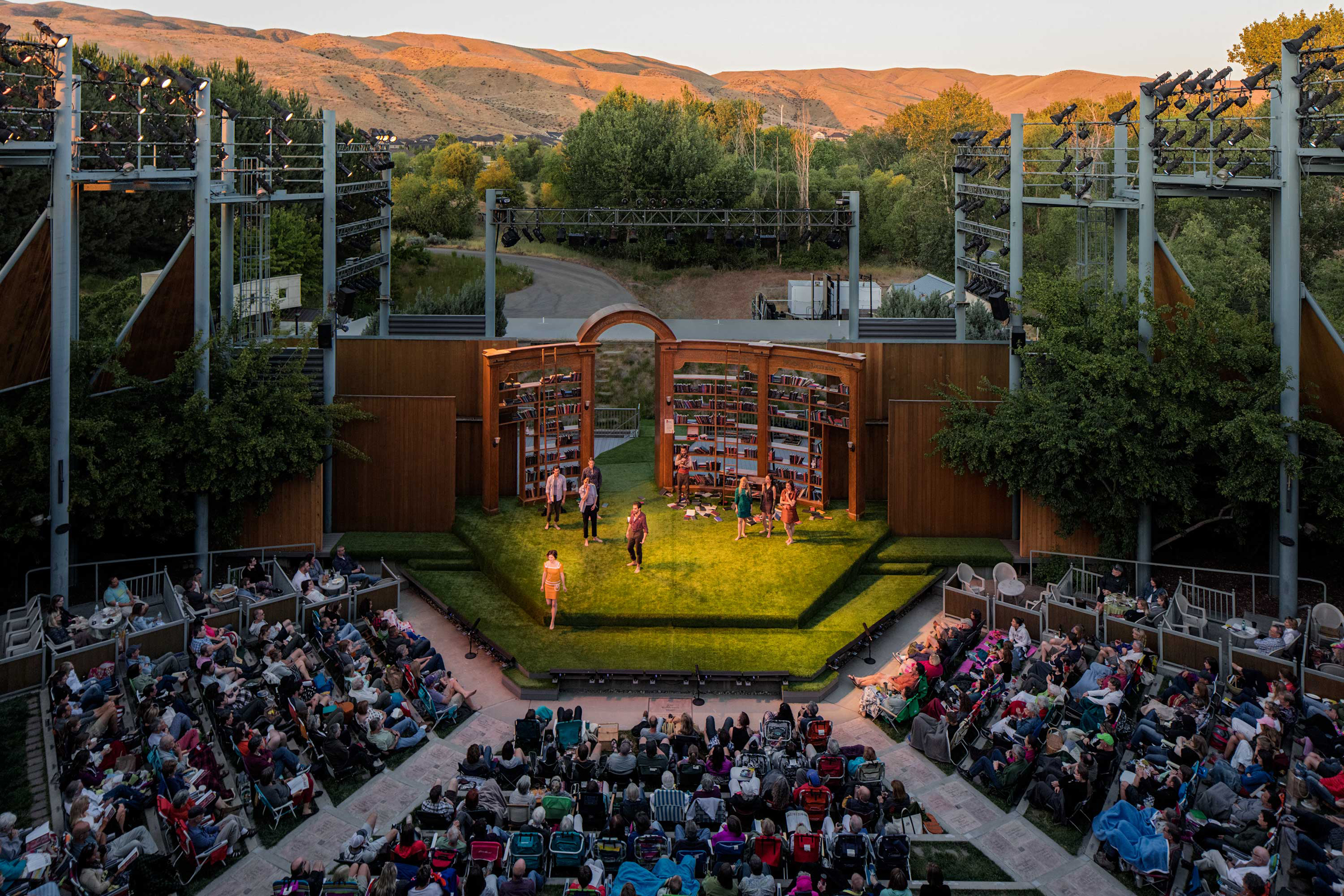 """William Shakespeare's play """"Love's Labor's Lost"""" is performed at Idaho Shakespeare Festival in Boise, ID on Sunday, June 12, 2016."""