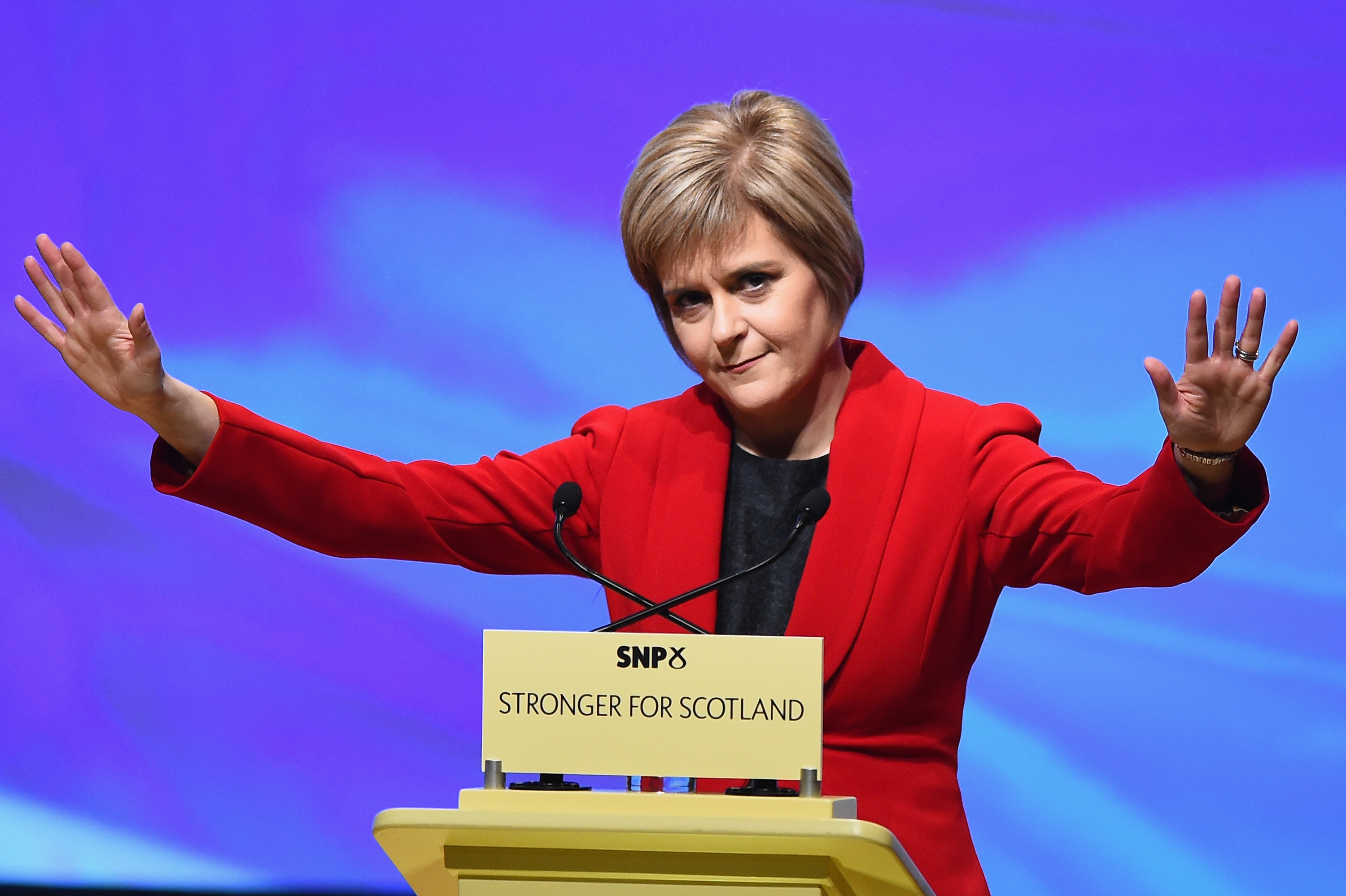 Nicola Sturgeon, gives her first key note speech as SNP party leader at the partys annual conference on November 15, 2014 in Perth, Scotland.