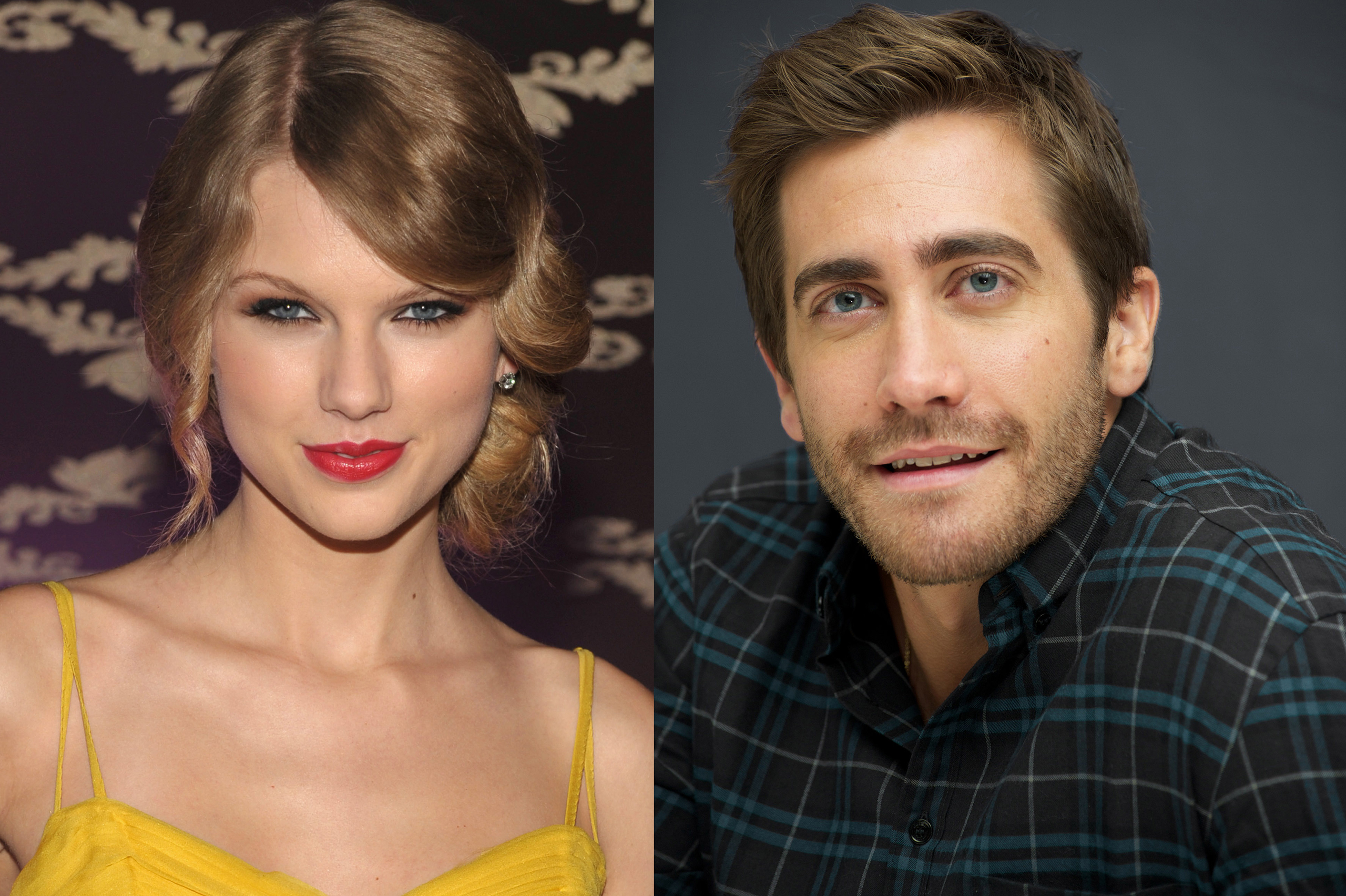 Taylor Swift attends the Country Music Hall Of Fame Museum's  All For The Hall  in Los Angeles on Sept. 23, 2010; Jake Gyllenhaal at the  Love And Other Drugs  Press Conference in New York on Nov. 6, 2010.