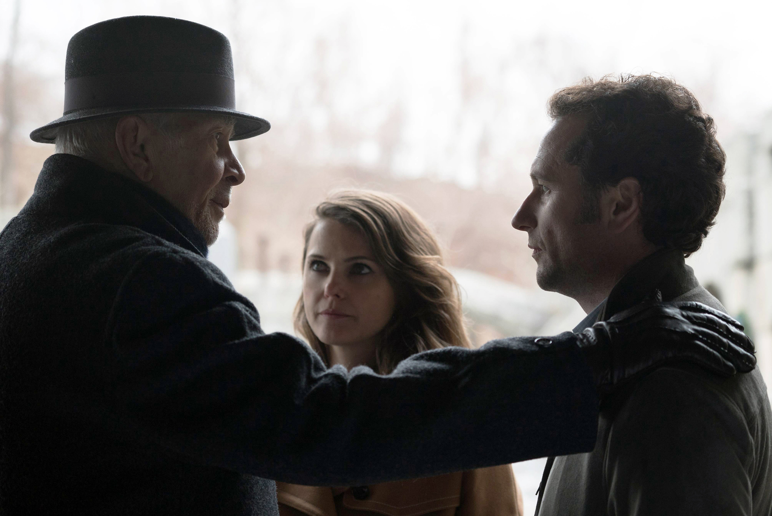 Frank Langella, Keri Russell and Matthew Rhys in the last episode of Season 4 of The Americans.