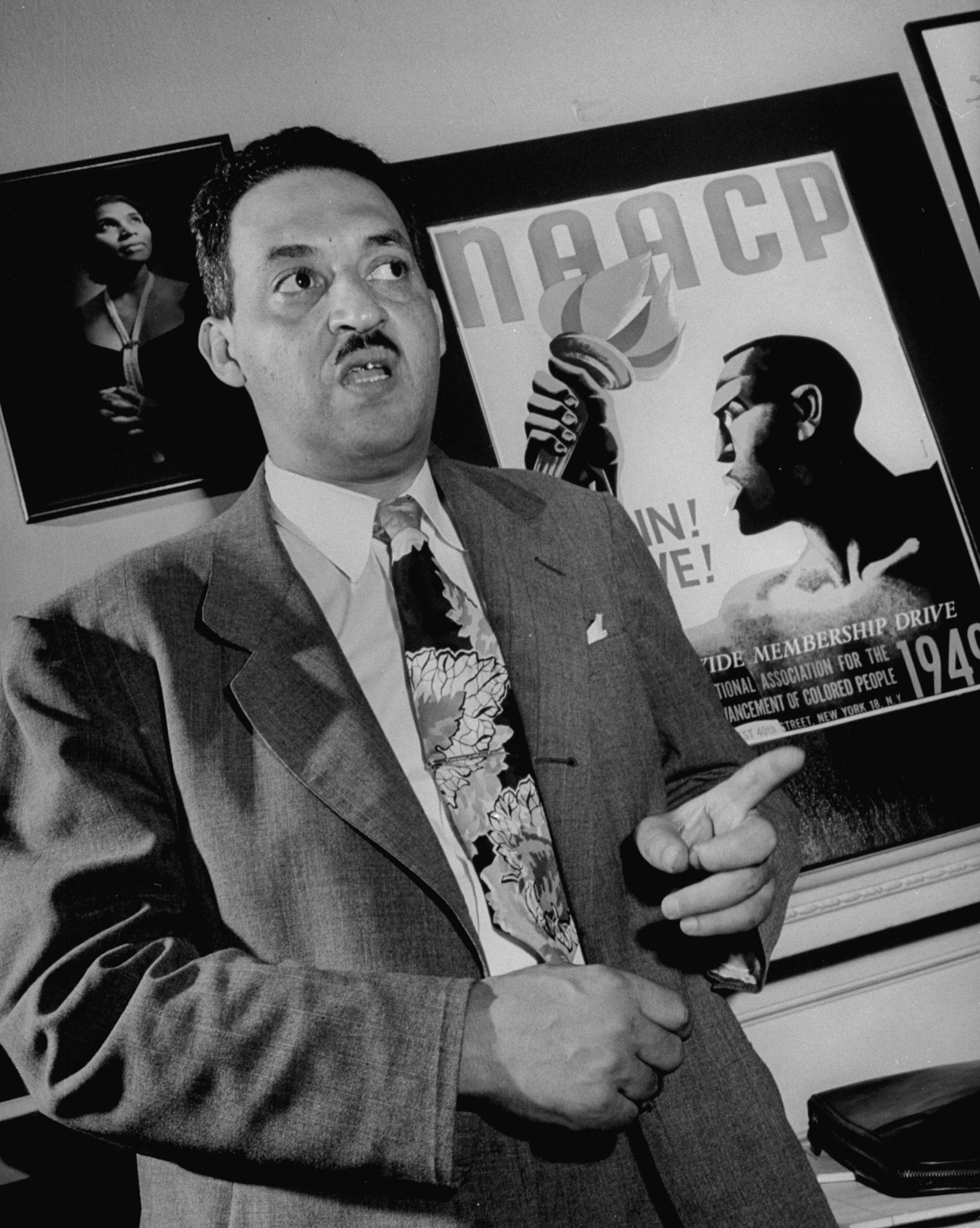 Thurgood Marshall, legal director of the NAACP.