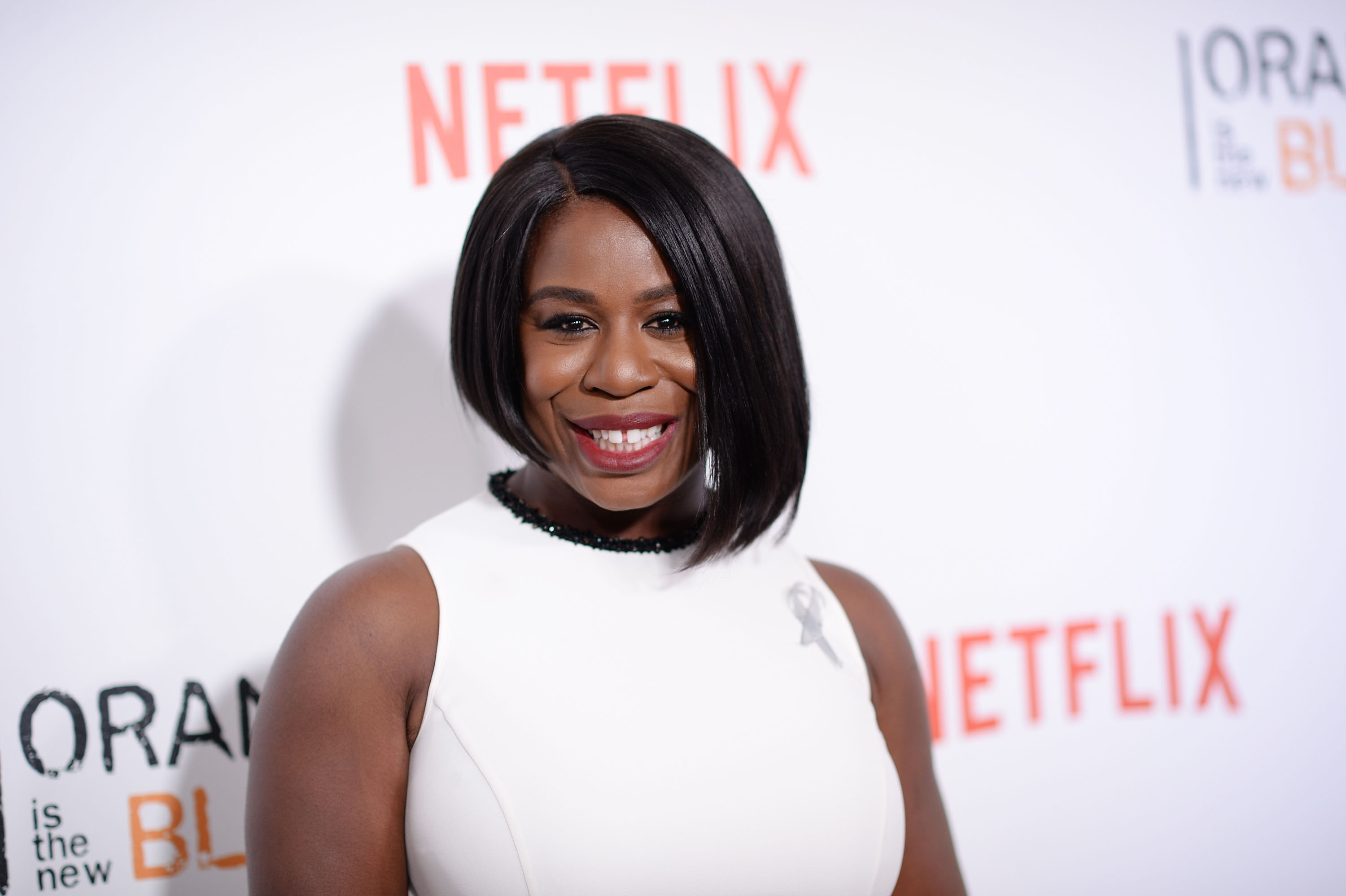 Uzo Aduba attends  Orange Is The New Black  premiere at SVA Theater on June 16, 2016 in New York City.