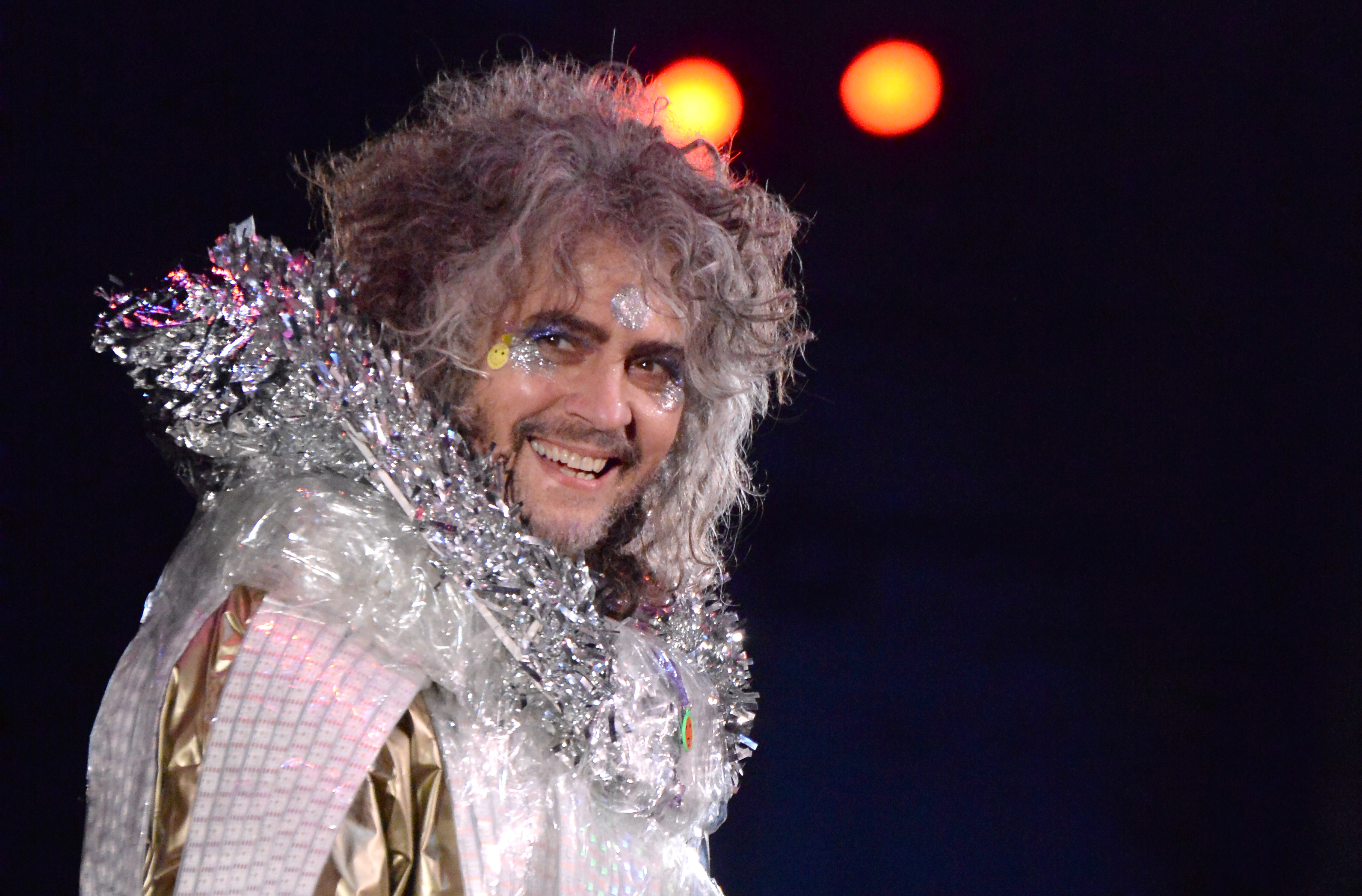 Wayne Coyne performs  life On Mars  onstage at Michael Dorf Presents - The Music of David Bowie at Radio City Music Hall on April 1, 2016 in New York City.