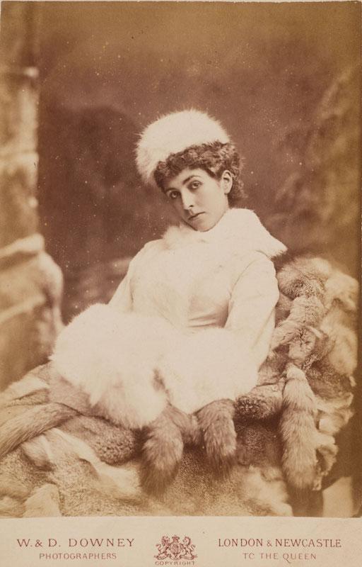 W. & D. Downey (British, active 1855–1940), [Mary Cornwallis West], ca. 1880. Albumen print (cabinet card), 6 ½ x 4 ¼ in. Gernsheim collection, 964:0052:0147