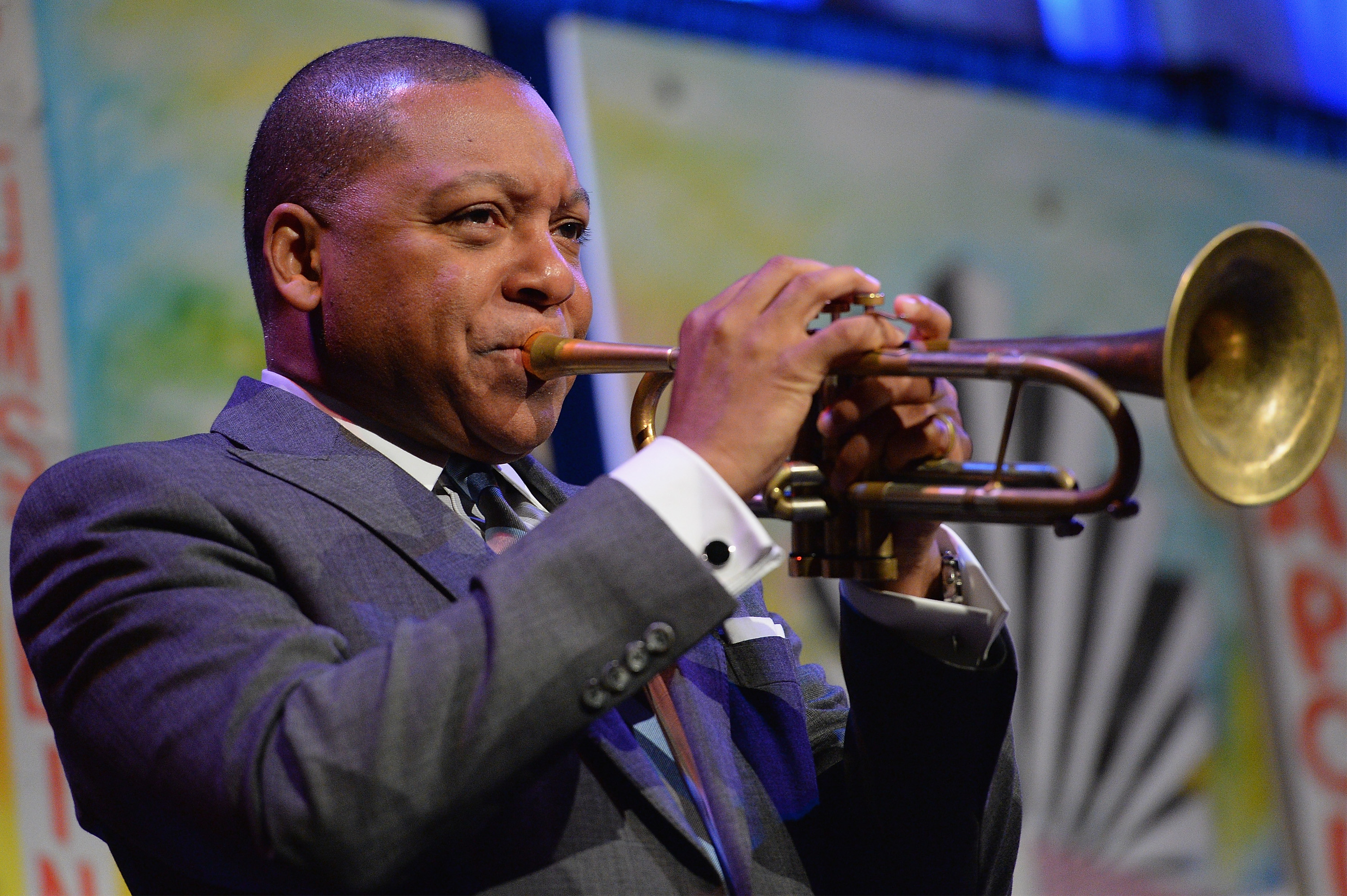 Musician Wynton Marsalis performs onstage during the Northside Center for Child Development 70th Anniversary Spring Gala at Cipriani 42nd Street on April 27, 2016 in New York City.