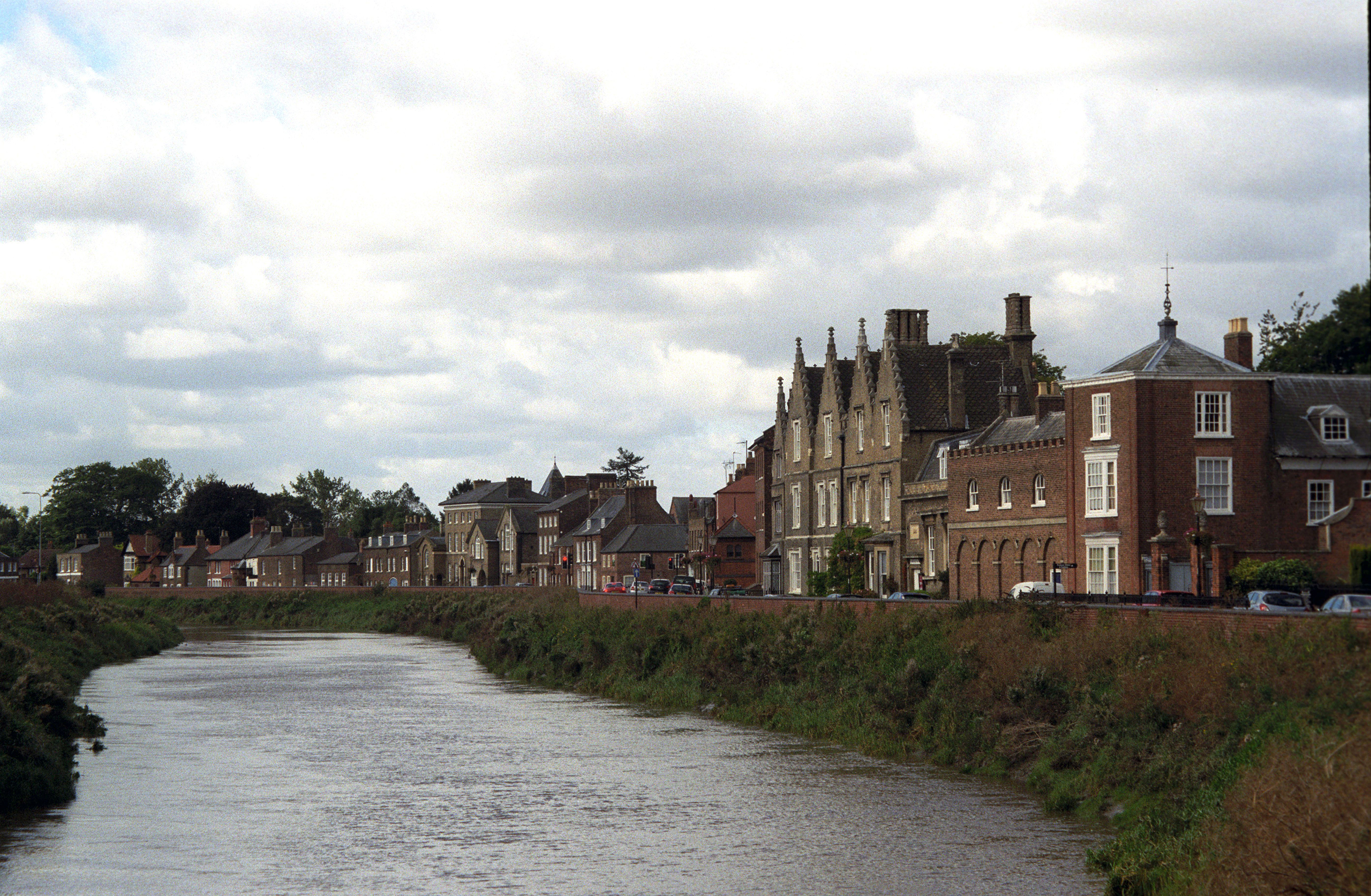 A view of the north brink of Wisbech, England, in September 2012