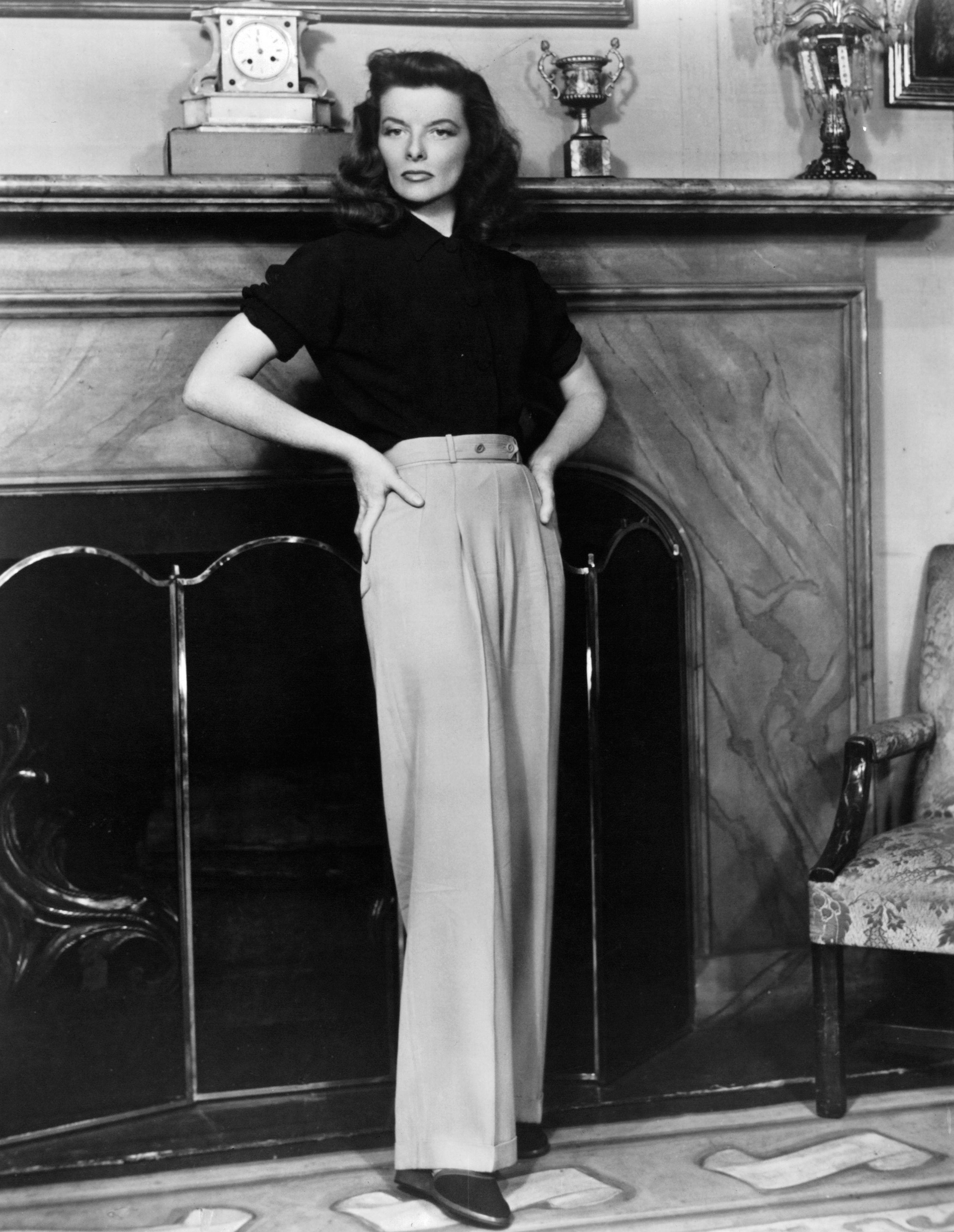 Katharine Hepburn in a scene from the film The Philadelphia Story, 1940.