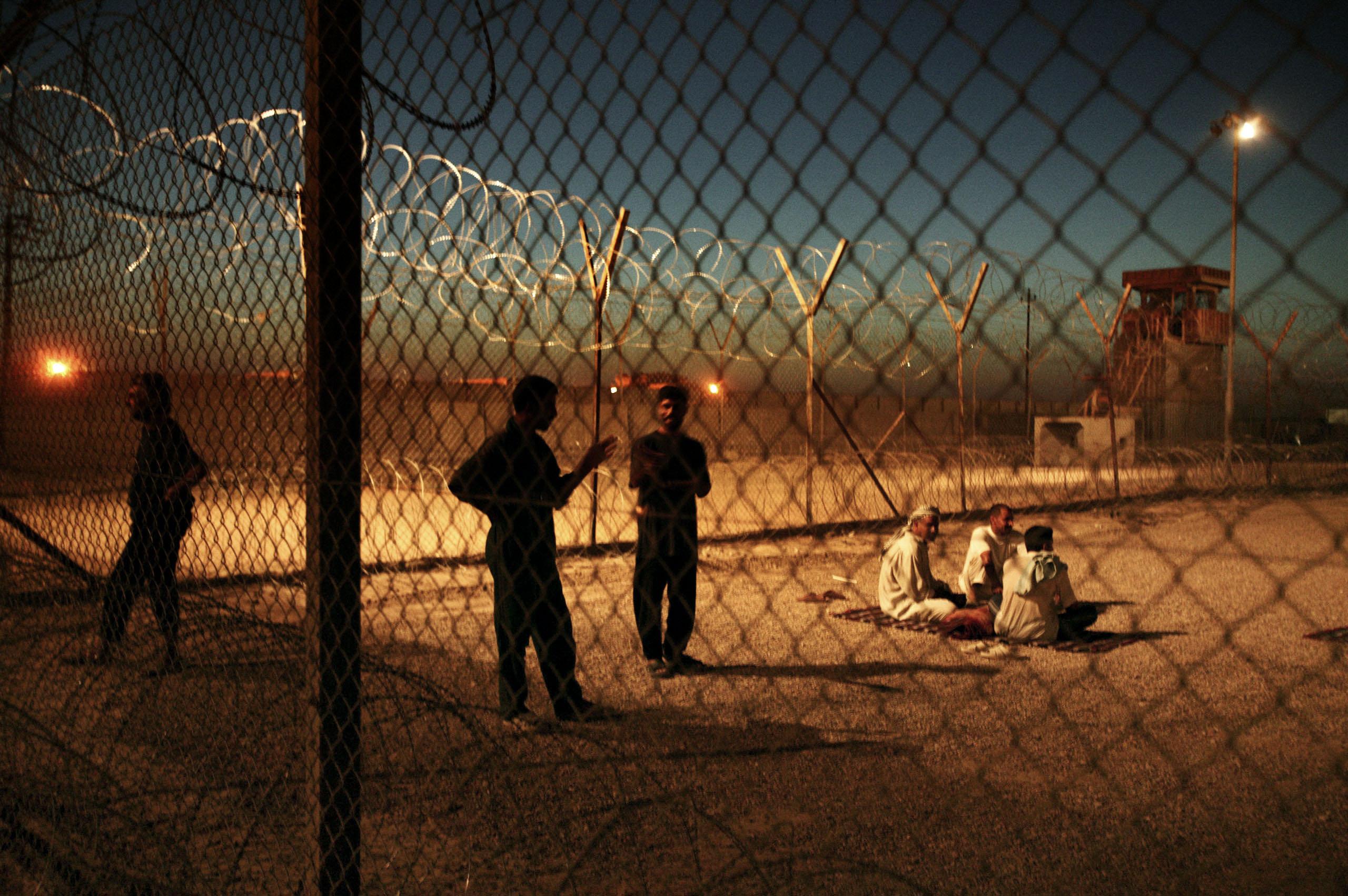 Iraqi detainees in Abu Ghraib prison, Baghdad, Iraq, June 25, 2004.