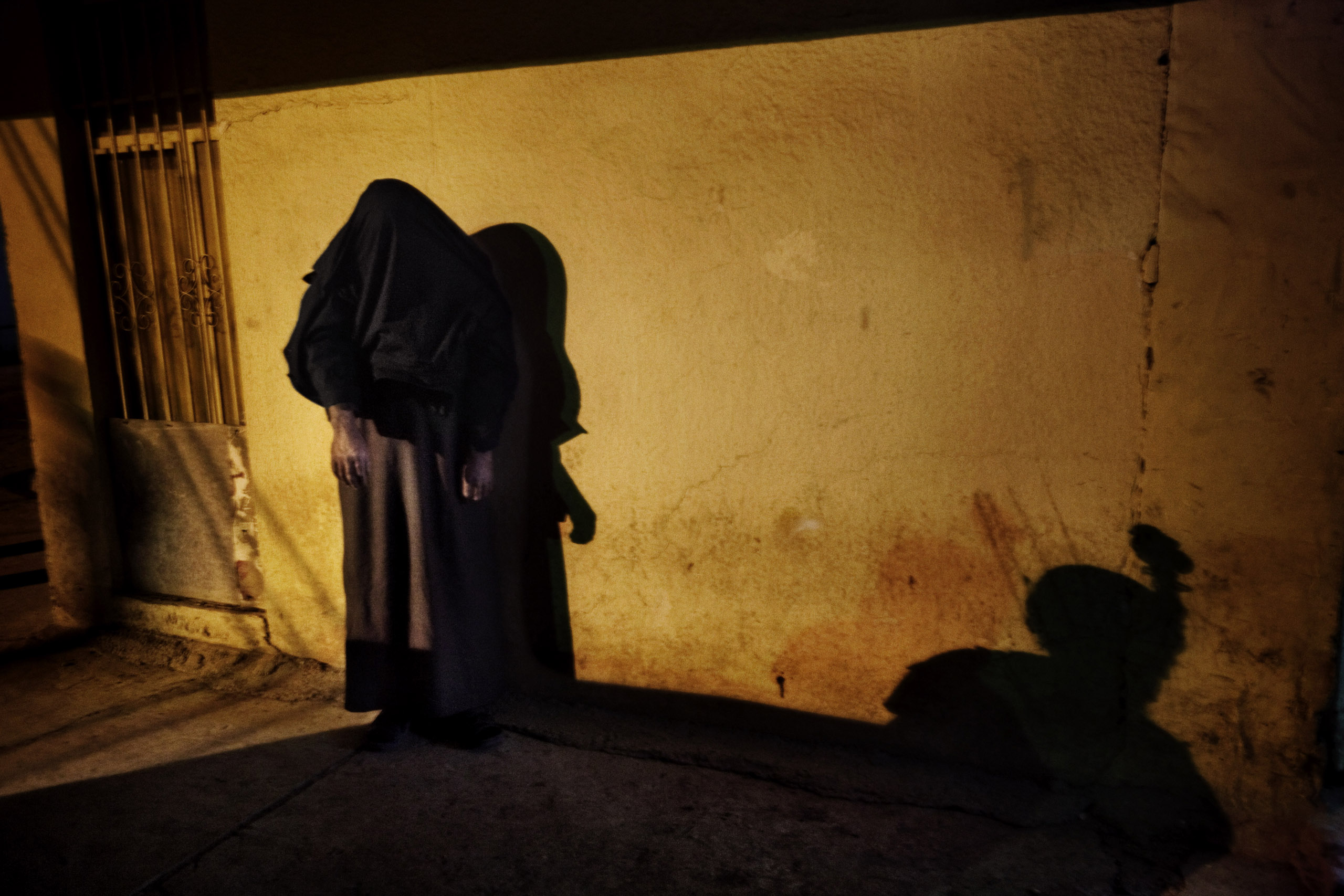 A suspected insurgent captured by U.S. and Iraqi forces, Mosul, Iraq, Feb. 11, 2008.