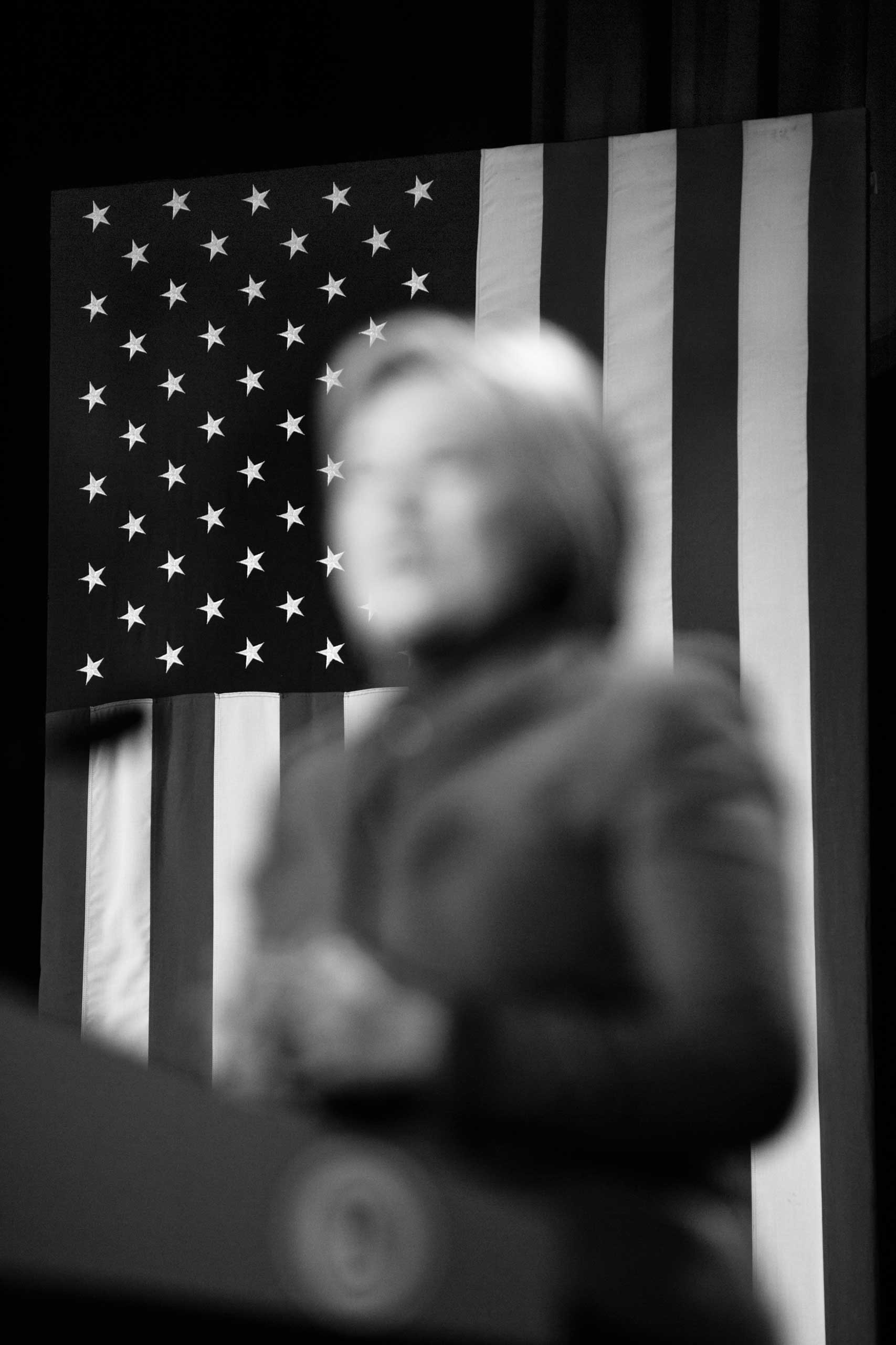 February 5, 2016 - Manchester, New Hampshire: Democratic Party presidential candidate Hillary Clinton speaks at the 2016 McIntyre-Shaheen 100 Club Celebration in the Verizon Arena.