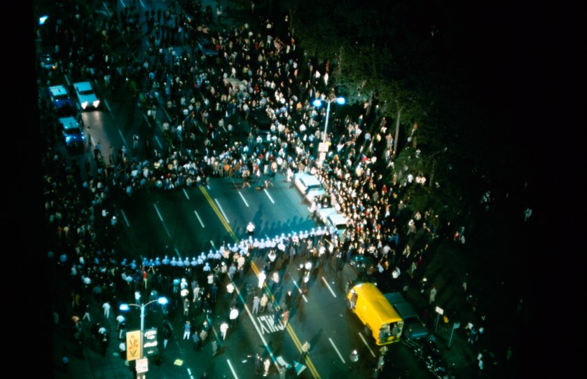 Democratic Convention riots in Chicago, 1968.