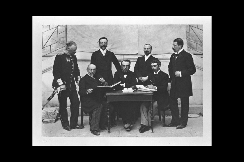 International Olympic Committee (IOC) members in Athens, Greece during the 1896 games.
