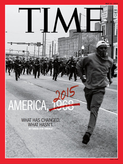 May 11, 2016 cover of TIME magazine with photo by Devin Allen.
