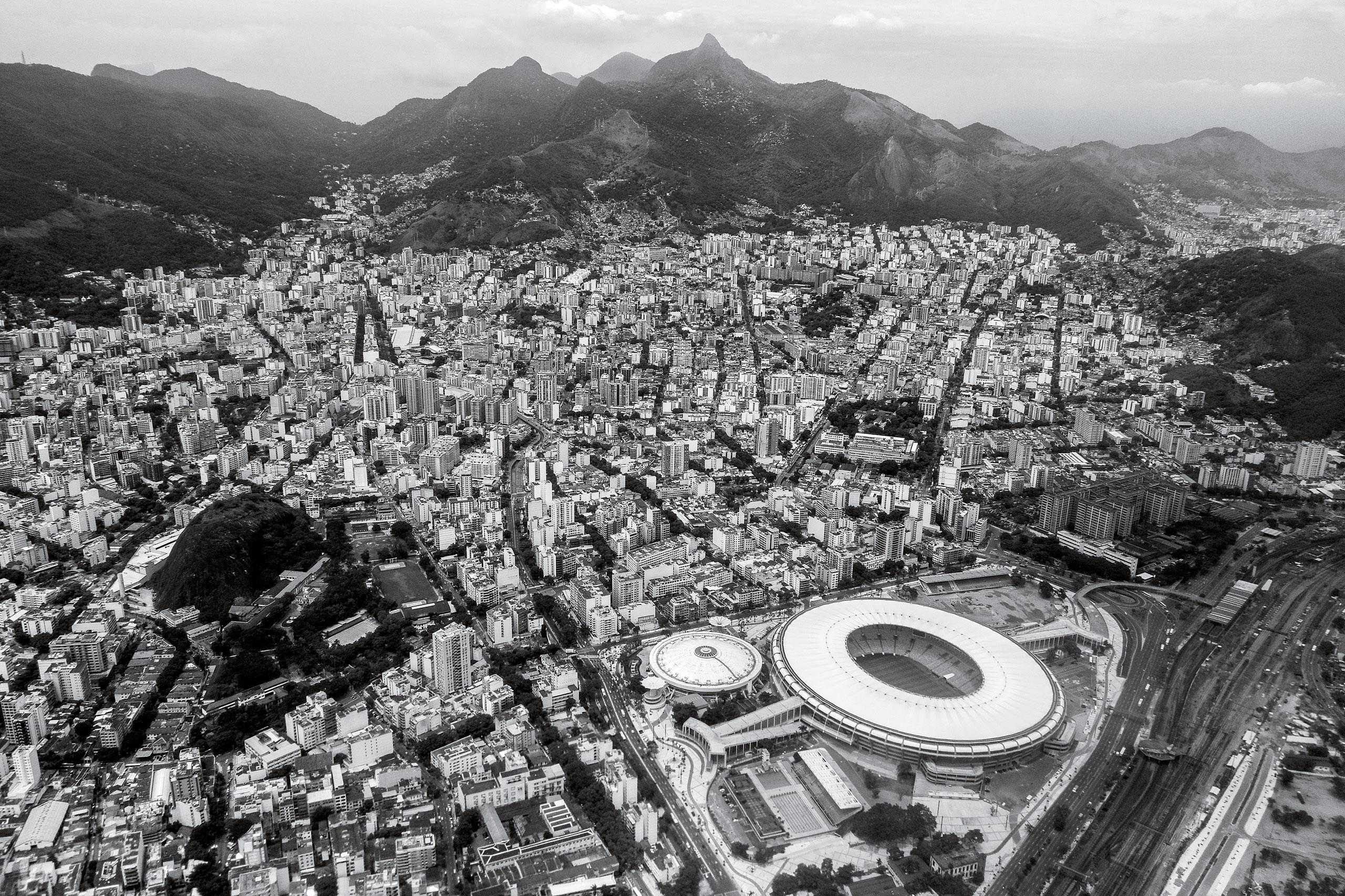 Rio sprawls                    around Maracanã Stadium, site of the opening and closing ceremonies
