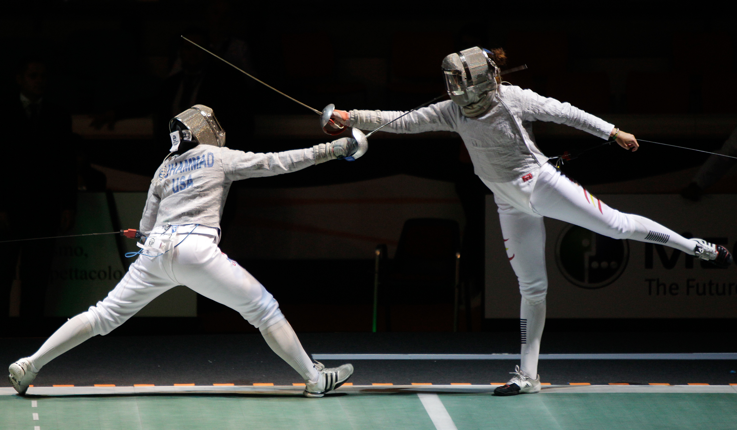 <strong>Ibtihaj Muhammad, Fencing, USA</strong>Muhammad picked up fencing in eighth grade in part because the body-length attire accommodated her Muslim faith. The Duke grad will be the first American Olympian to compete in a hijab.