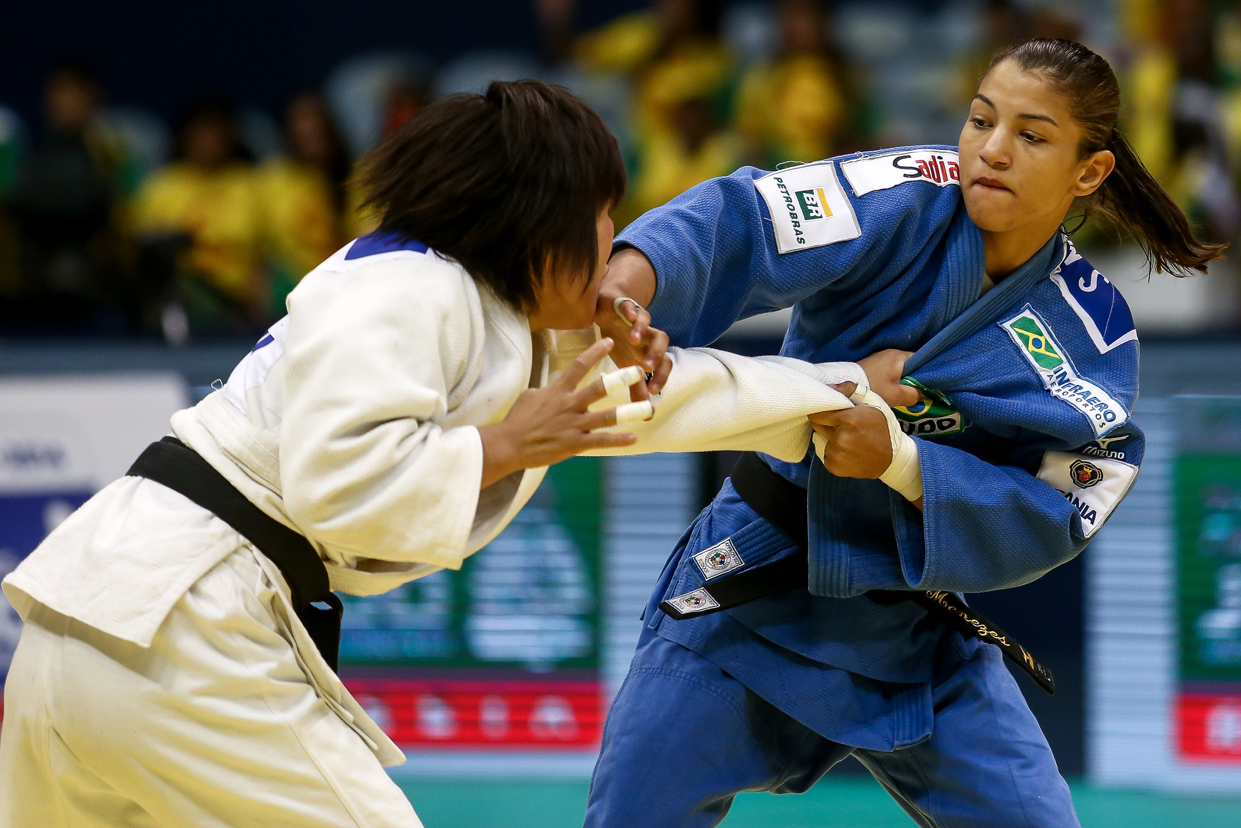 <strong>Sarah Menezes, Judo, Brazil</strong>A gold medalist in London, Menezes could win the home team's first gold in Rio, inspiring Saturday-night samba celebrations throughout Brazil.
