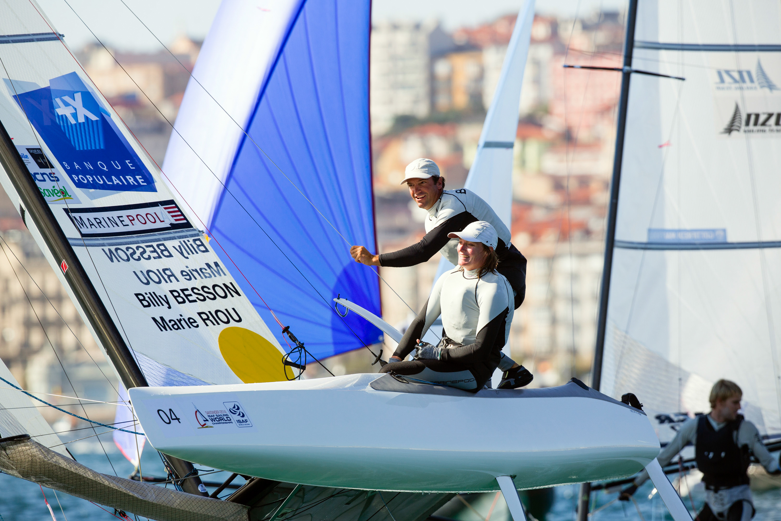 <strong>Billy Besson, Marie Riou, Sailing, France</strong>Sailing will debut a mixed event in Rio using a catamaran that seems to fly above the water. The biggest hurdle for this French pair, who have won four straight world titles, may be Rio's polluted Guanabara Bay.