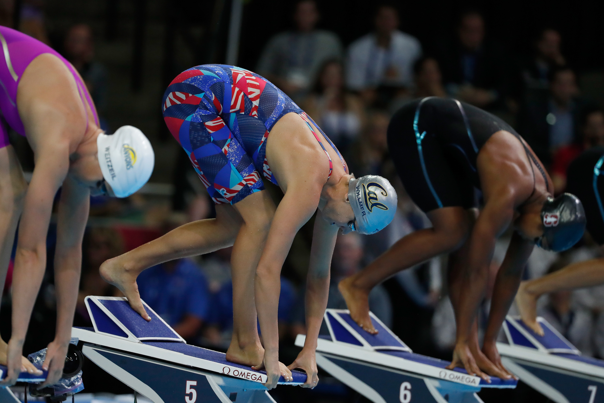 <strong>Dana Vollmer, Swimming, USA</strong>She made the Olympic team just 16 months after giving birth to her son Arlen and looks to defend her 2012 gold in the 100-m butterfly.