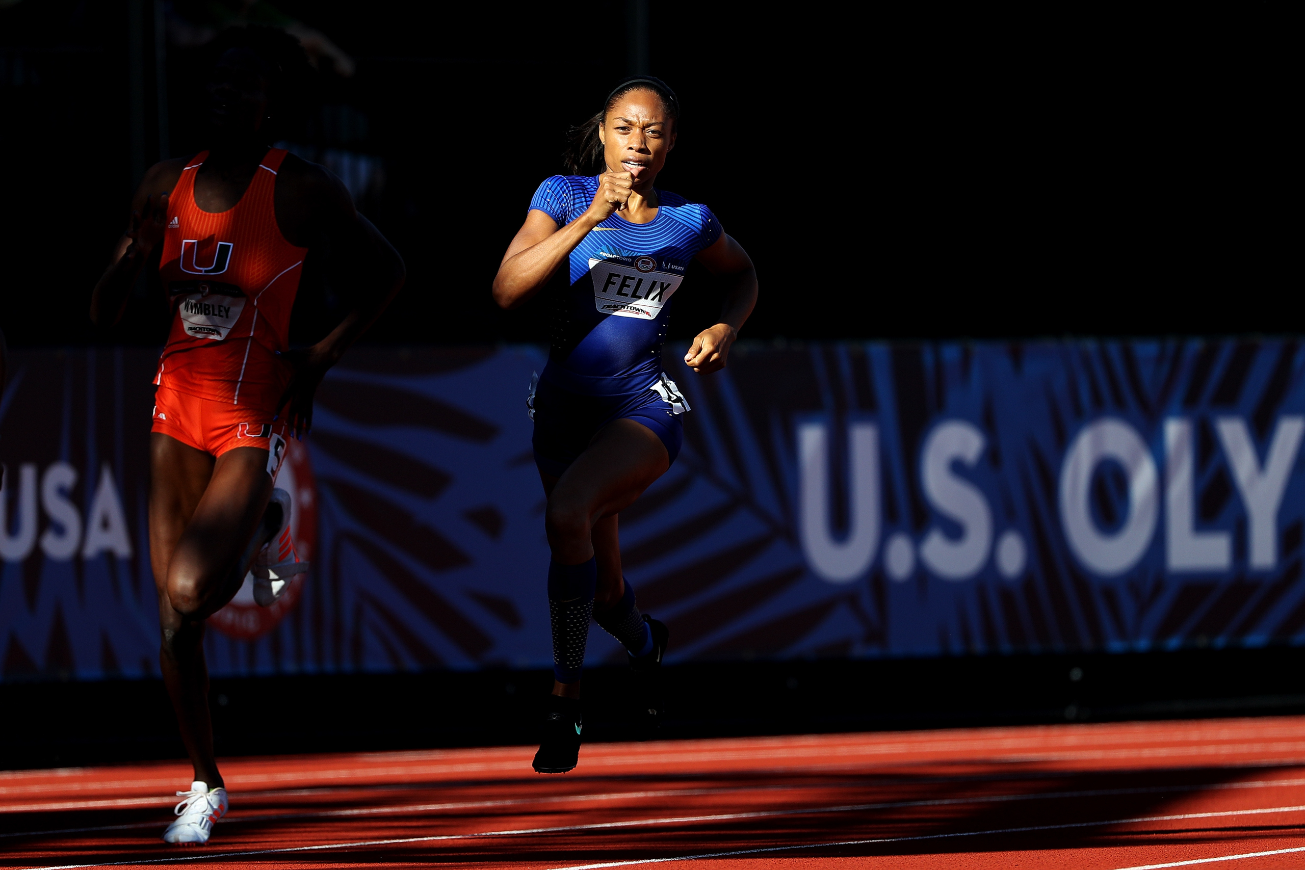 """<strong>Allyson Felix, Track and Field, USA</strong>In 2004, when Felix was 18 and prepping for her first Olympics, she trained with a teammate who was pushing 30. She swore that would never be her. """"And here I am in the same position, probably looking so old to those kids who are training with us,"""" says Felix. """"But I completely get it now. If you love it, why not?""""                                   Felix announced herself as one of the world's great sprinting talents with a silver medal in the 200 m at those 2004 Games, then paid off that promise with another silver and four golds in 2008 and 2012—tying Jackie Joyner-Kersee for the U.S. women's track medals record.                                   Felix won't get the chance to win gold in both the 200 m and 400 m in Rio; she missed a 200 spot by 0.01 sec. at the U.S. trials. But a win in either the 400 m or a relay would give Felix the record and cement her place in track history. —S.G."""