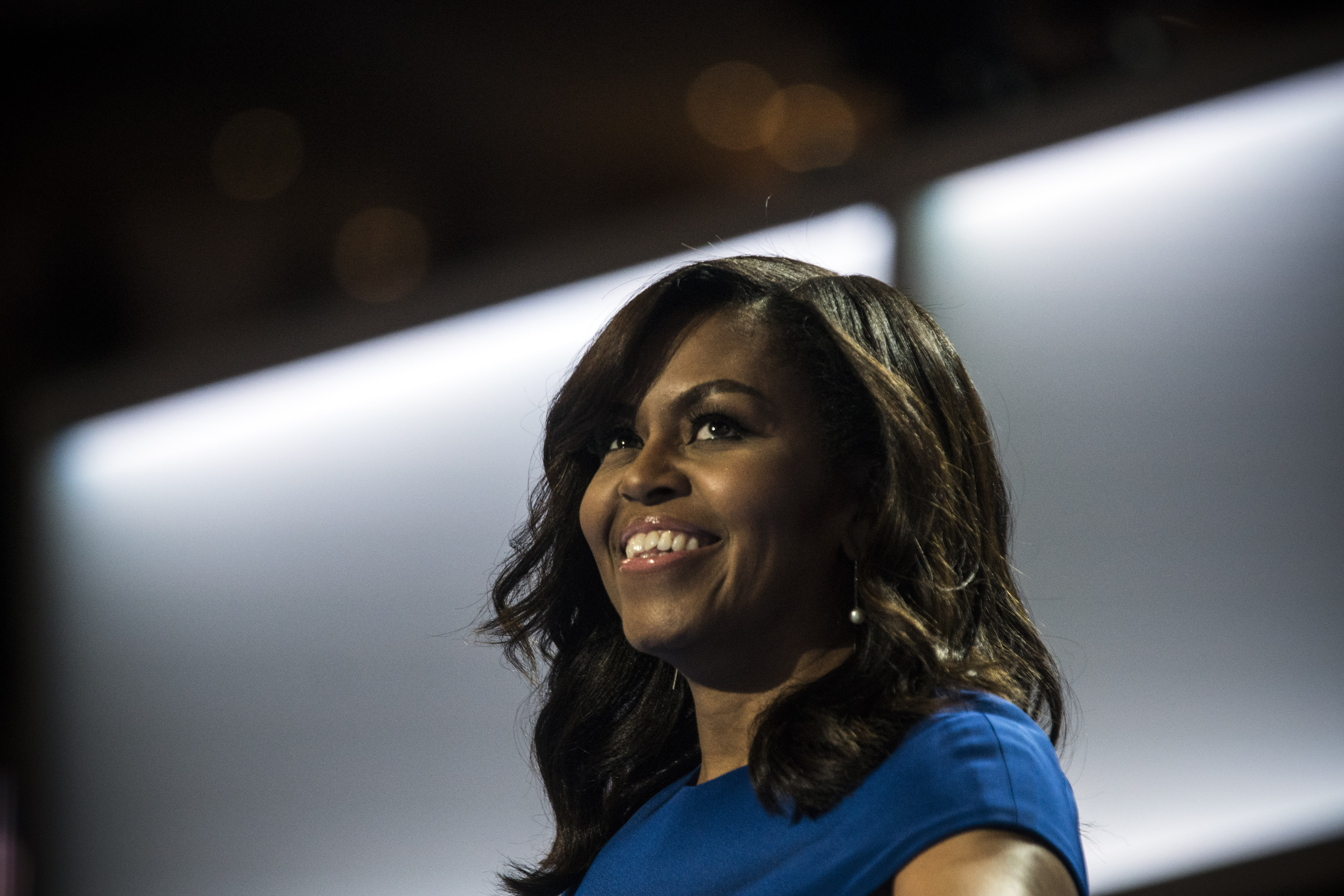 First Lady Michelle Obama speaks at the Democratic National Convention on July 25, 2016, in Philadelphia.