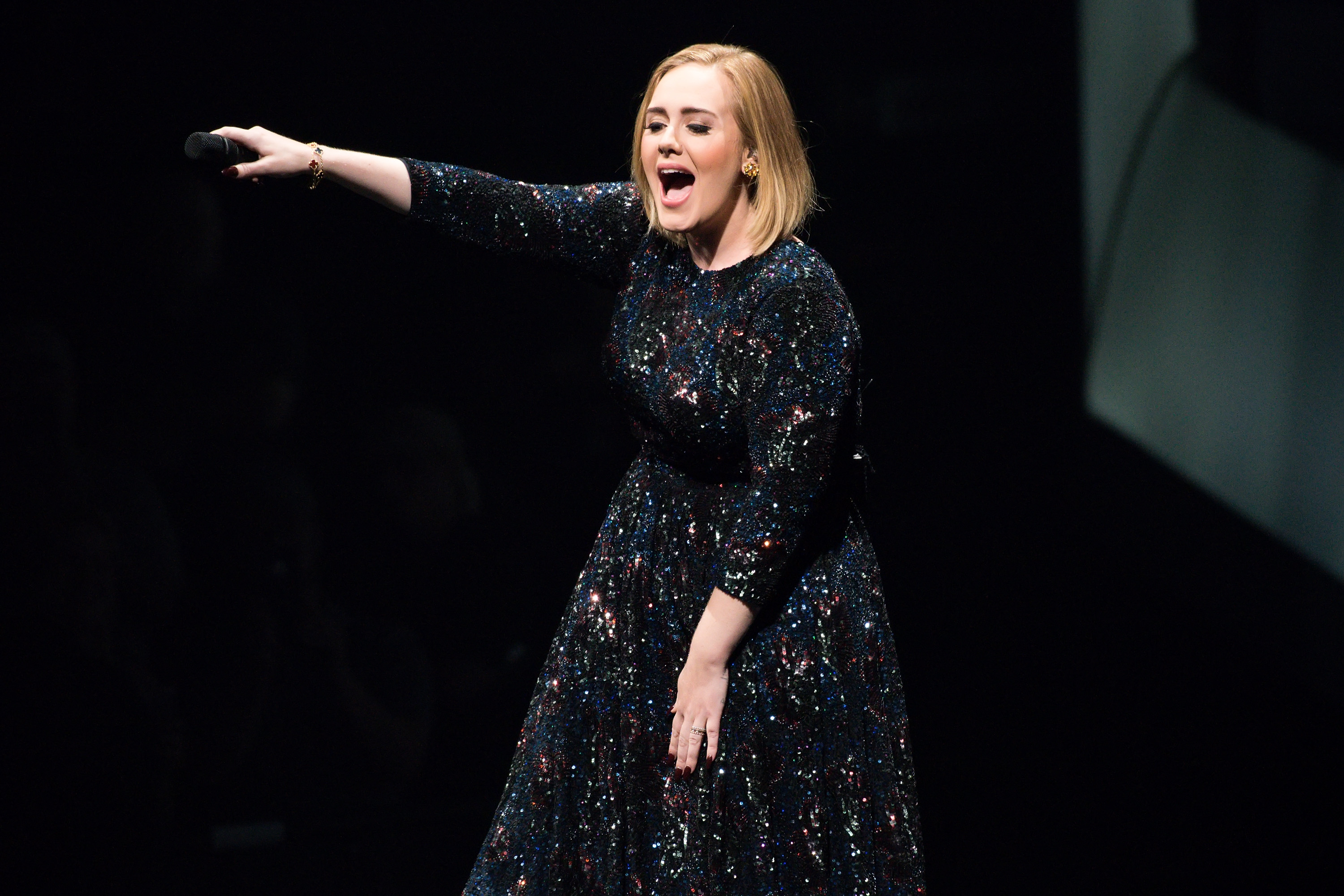 Adele performs at United Center on July 10, 2016 in Chicago, Illinois.