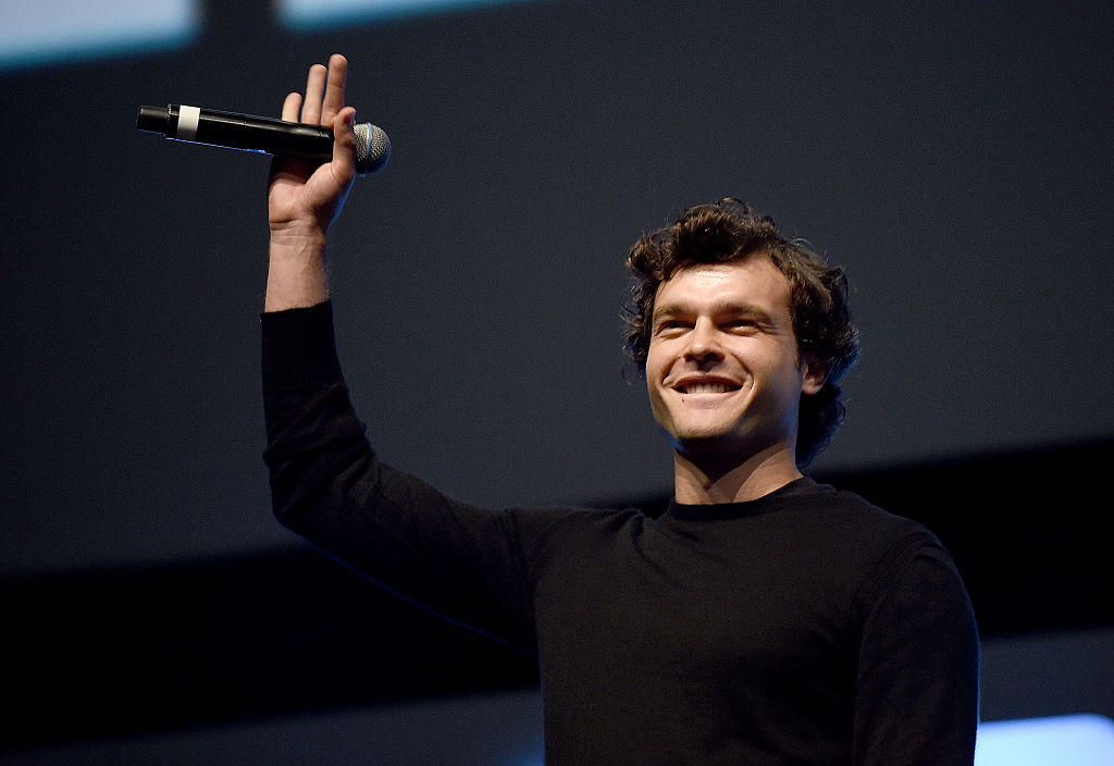 Alden Ehrenreich, who will play Han Solo, on stage during Future Directors Panel at the Star Wars Celebration 2016 at ExCel on July 17, 2016 in London, England.