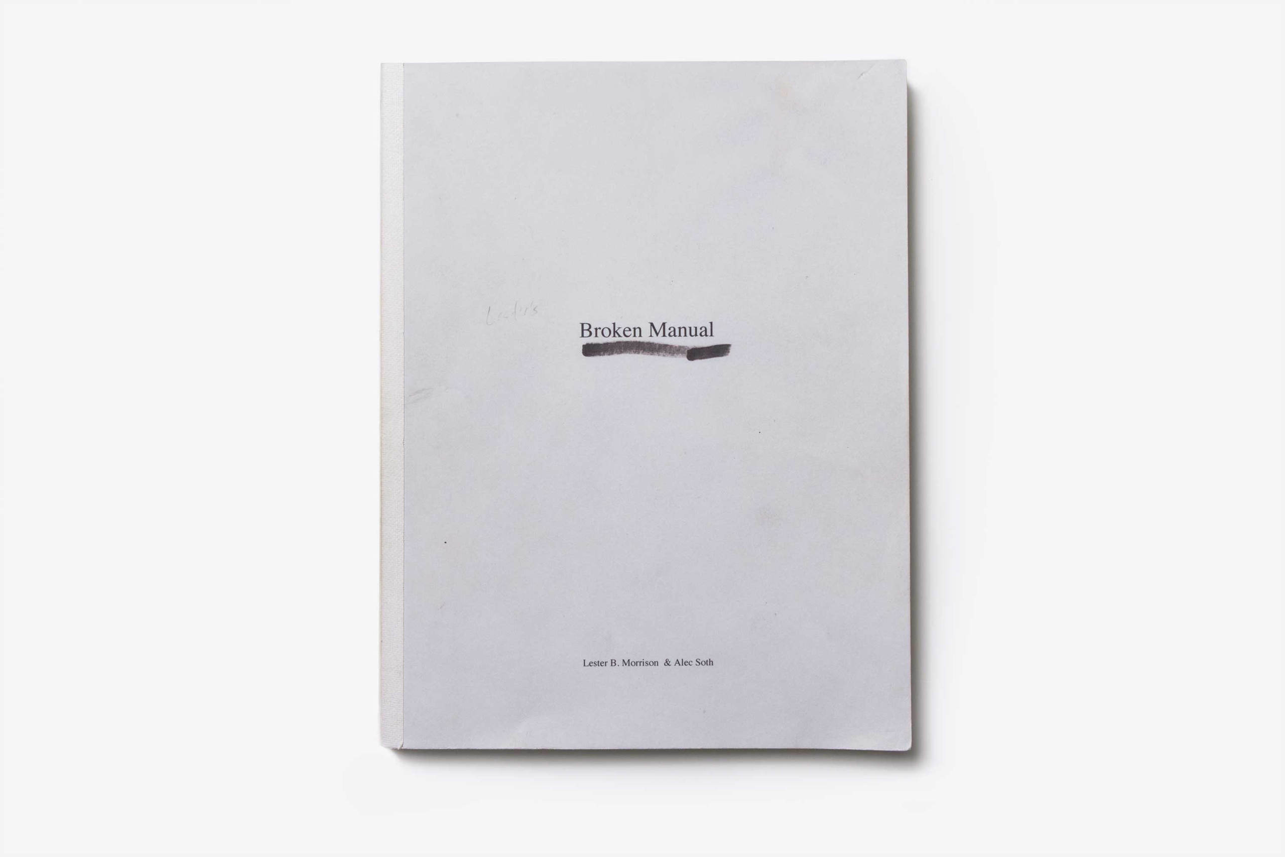 Broken Manual, Alec Soth                               Published by Steidl