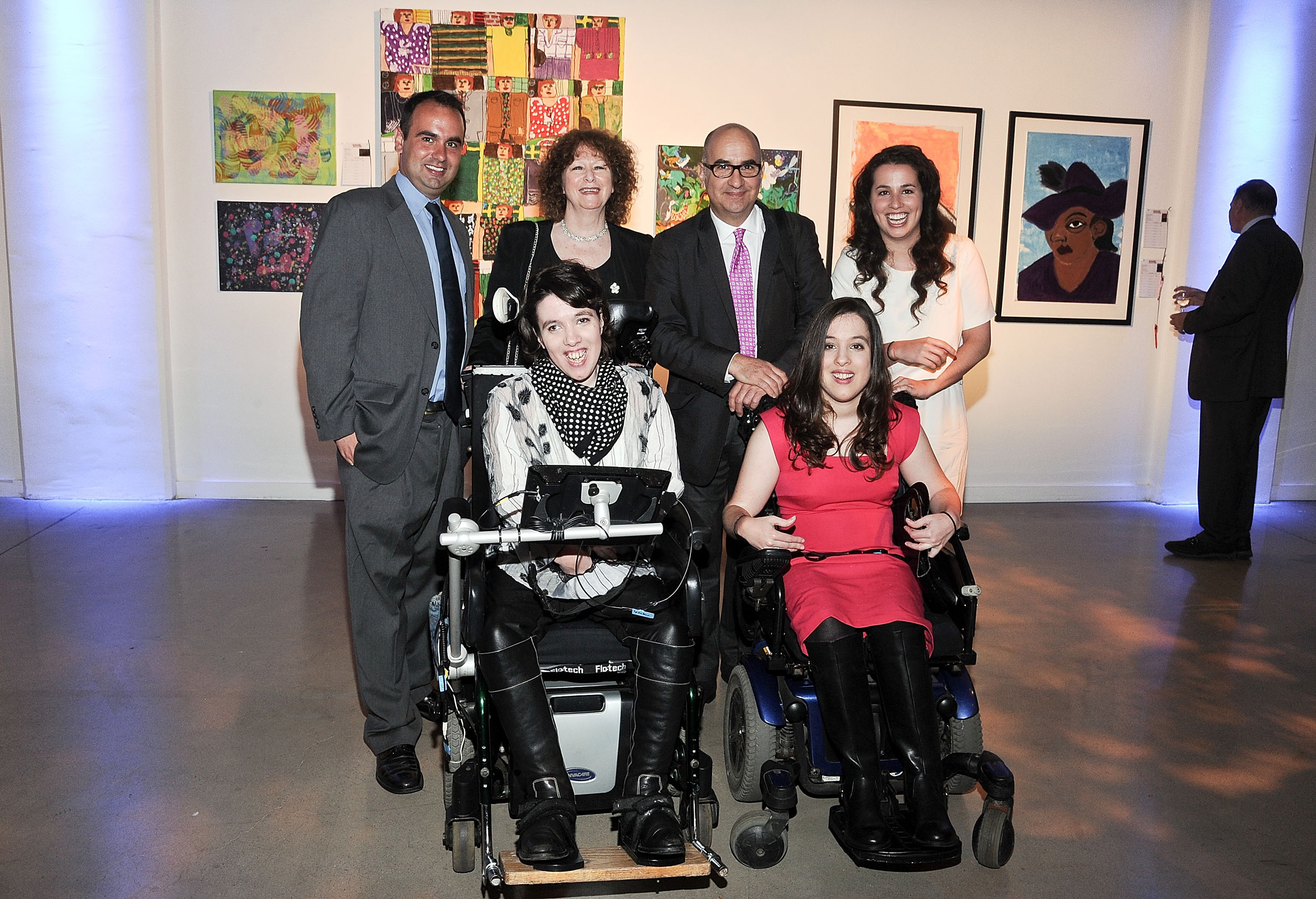 Oliver Somoza, Mary Somoza, Gerardo Somoza, Gabriella Somoza, Alba Somoza and Anastasia Somoza attend the The Shield Institute and Pure Vision Arts Celebration at Metropolitan West in New York City