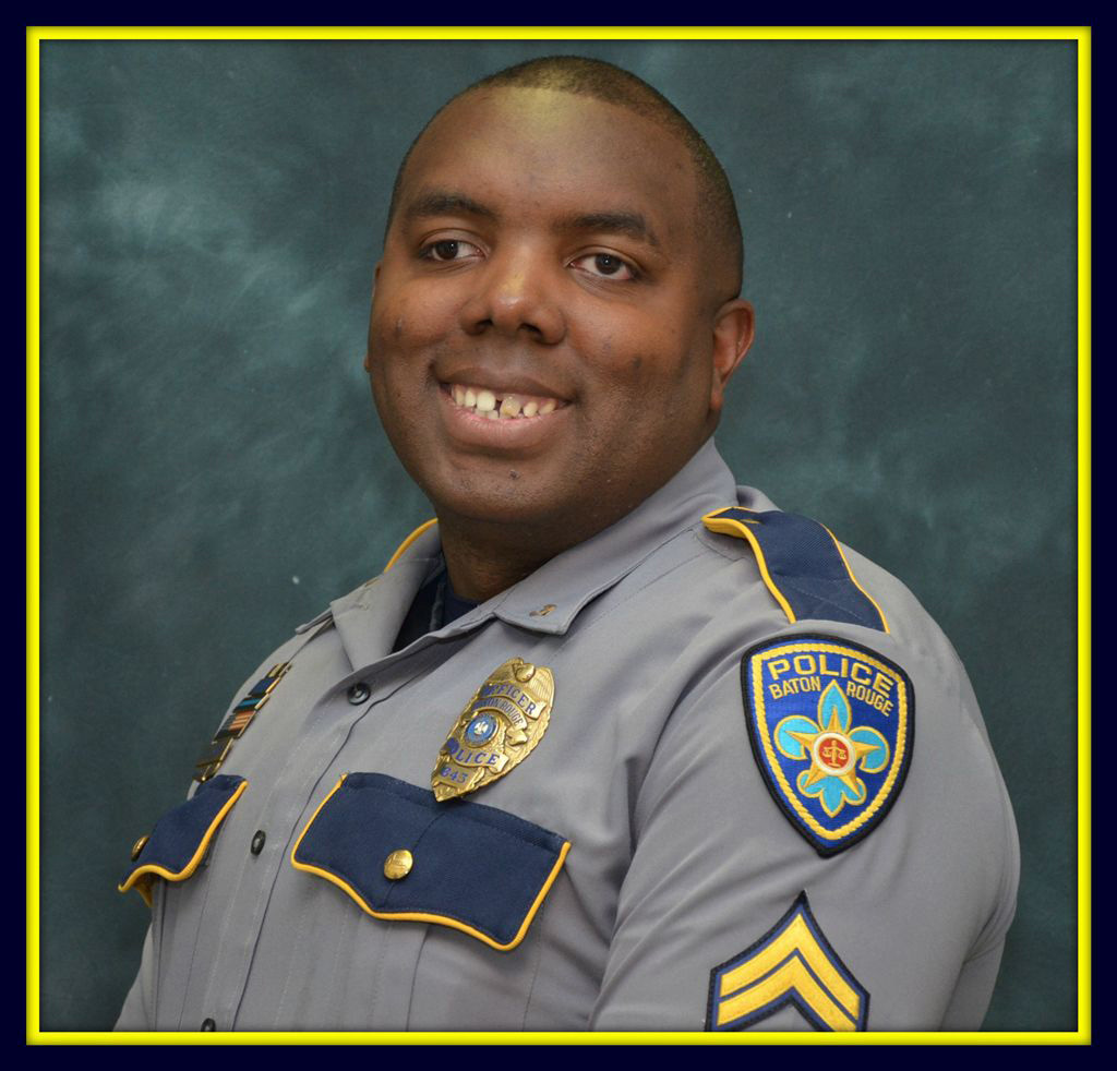 This undated photo made available by the Baton Rouge Police Department shows officer Montrell Jackson. Jackson, 32, has been identified as one of the police officers killed in a shooting July 17, 2016, in Baton Rouge, La.